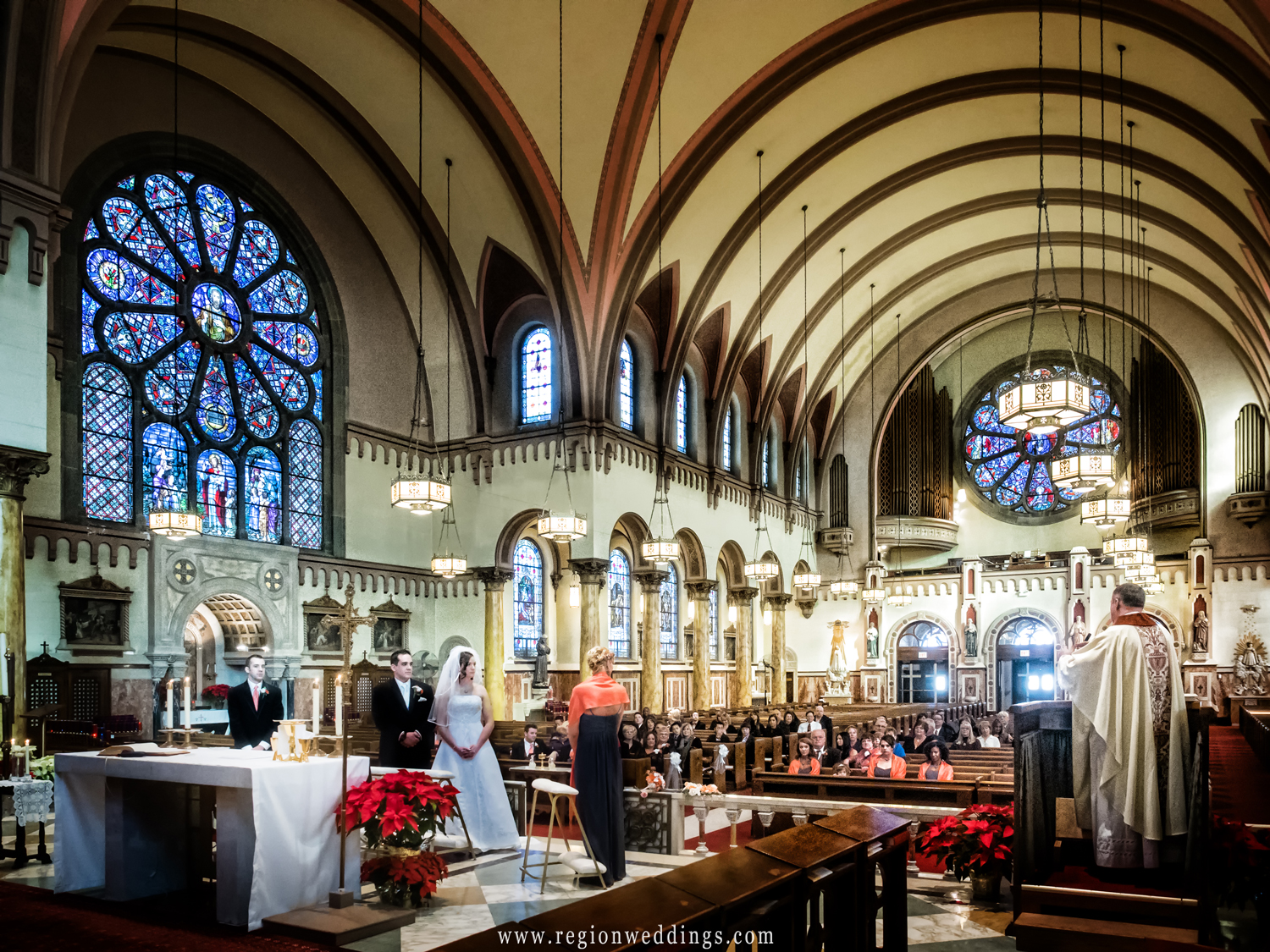A wide angle view from the altar of Saint Andrew the Apostle Parish.