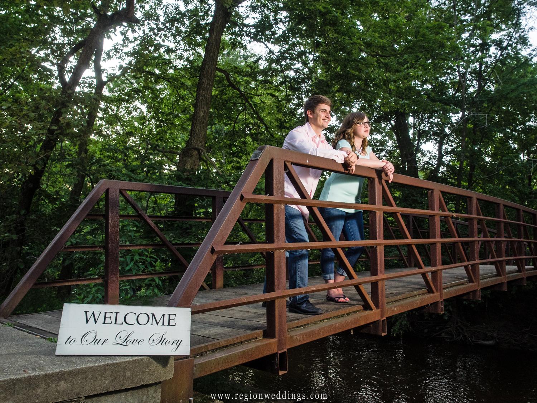 The famous bridge at Deep River County Park.