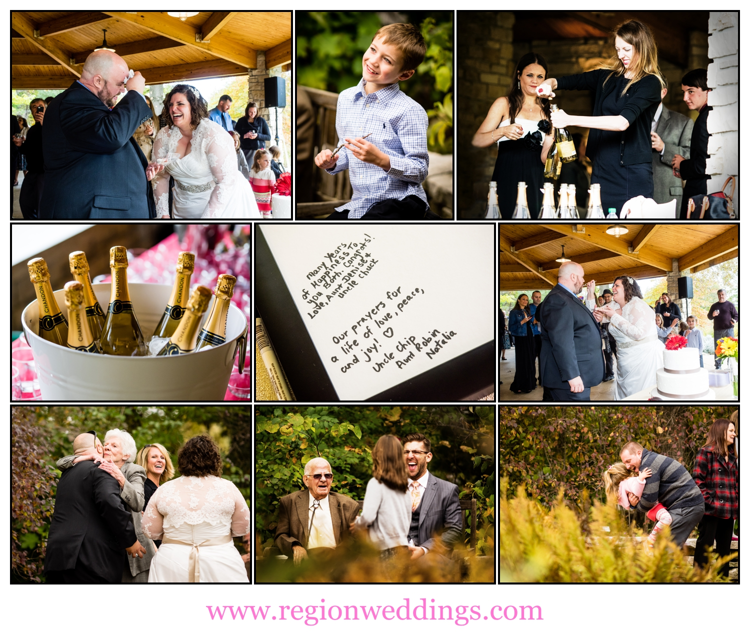 Open air wedding reception at the Taltree Arboretum Pavilion.