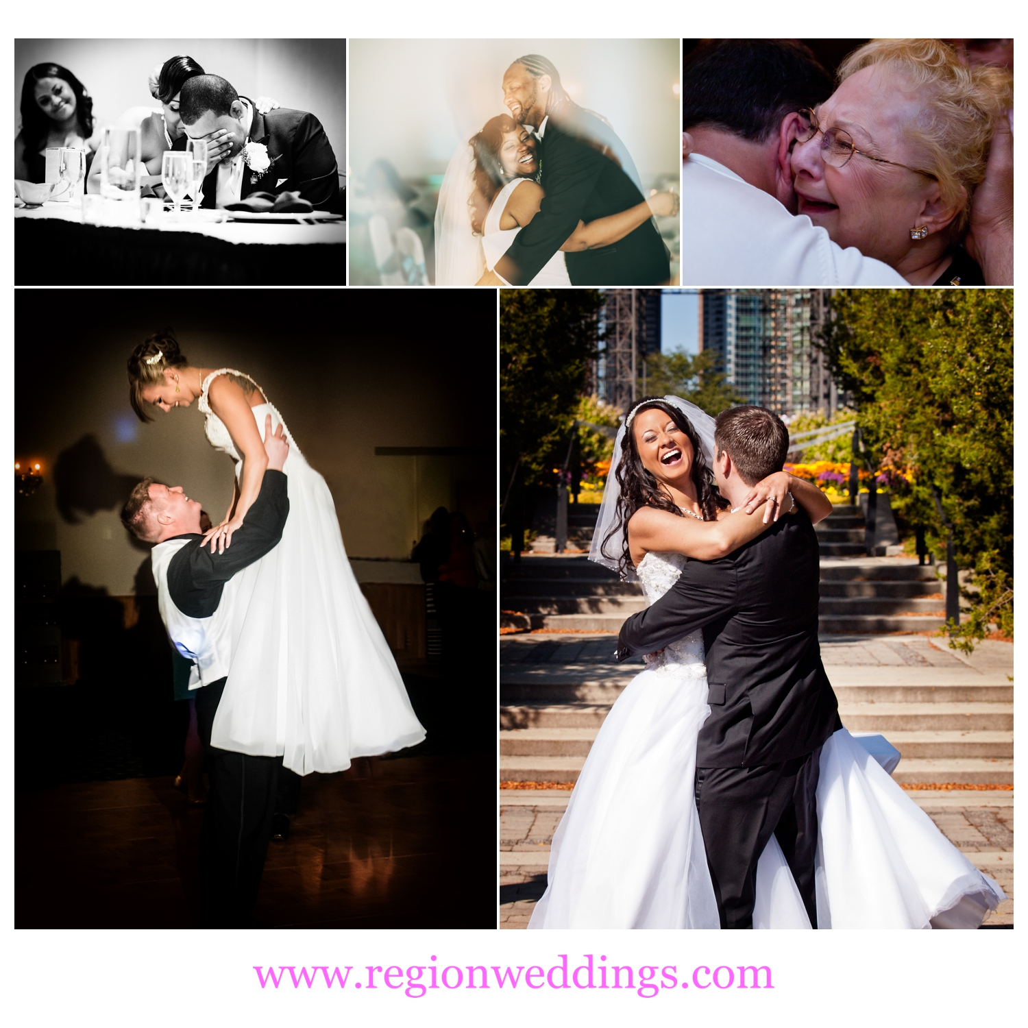 Emotional moments on wedding day.