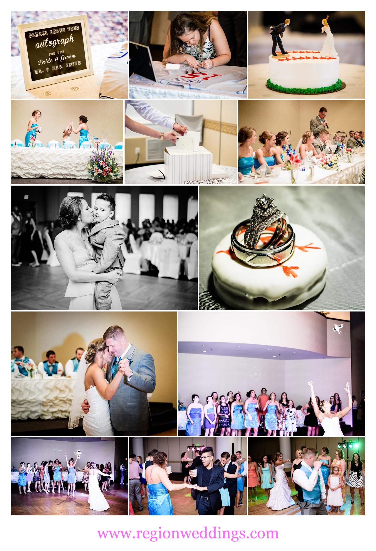 Wedding reception at Duneland Falls Banquet Center.