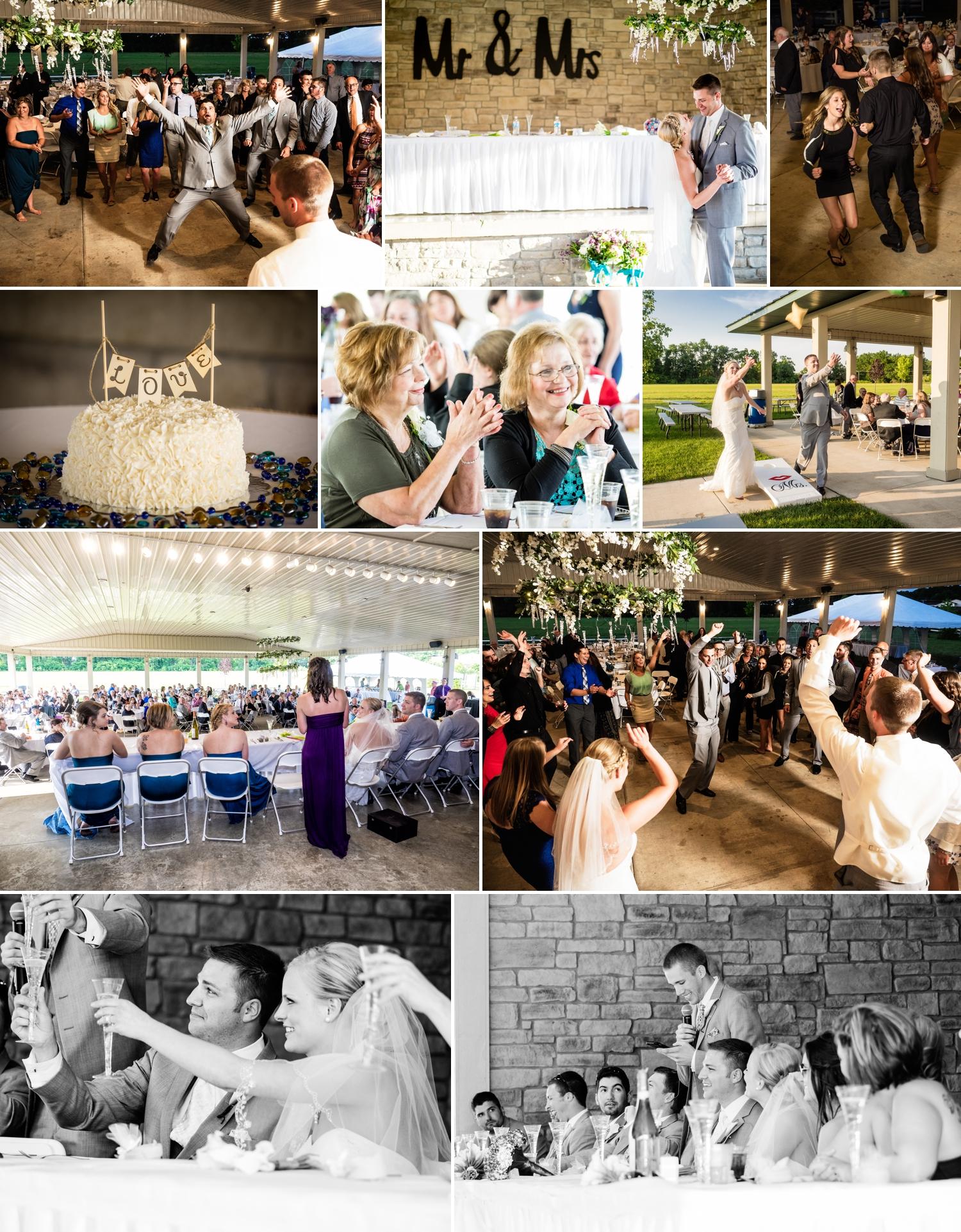 Wedding reception at the YMCA Pavilion in Valparaiso, Indiana.