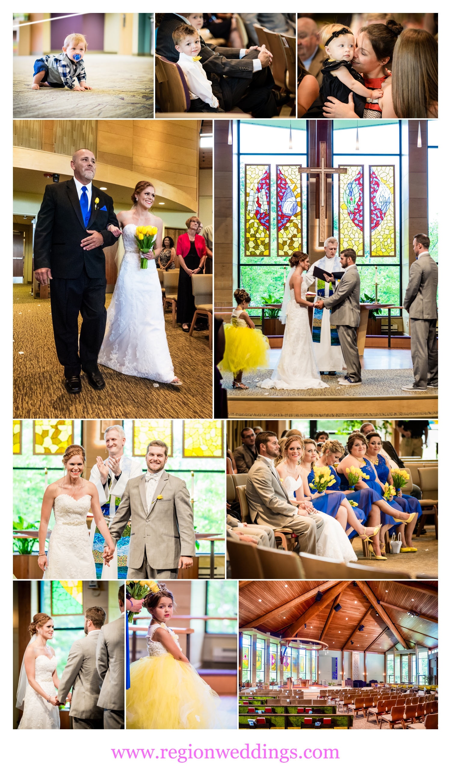 A wedding ceremony at Christ Lutheran Church.