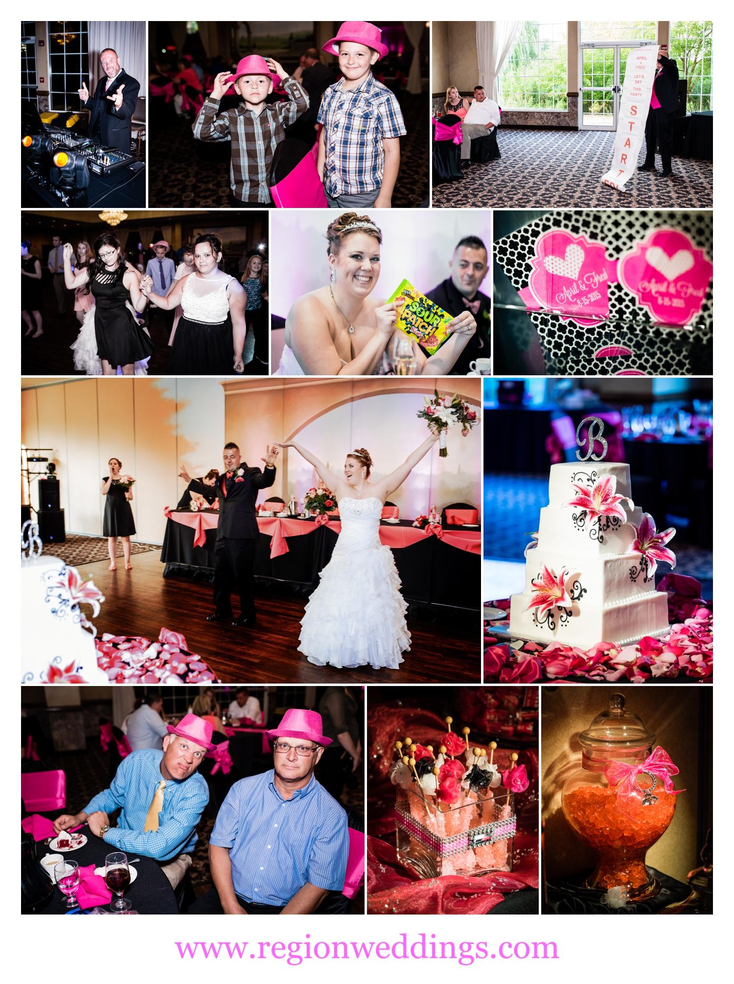 Wedding reception at Avalon Manor in Merrillville, Indiana.