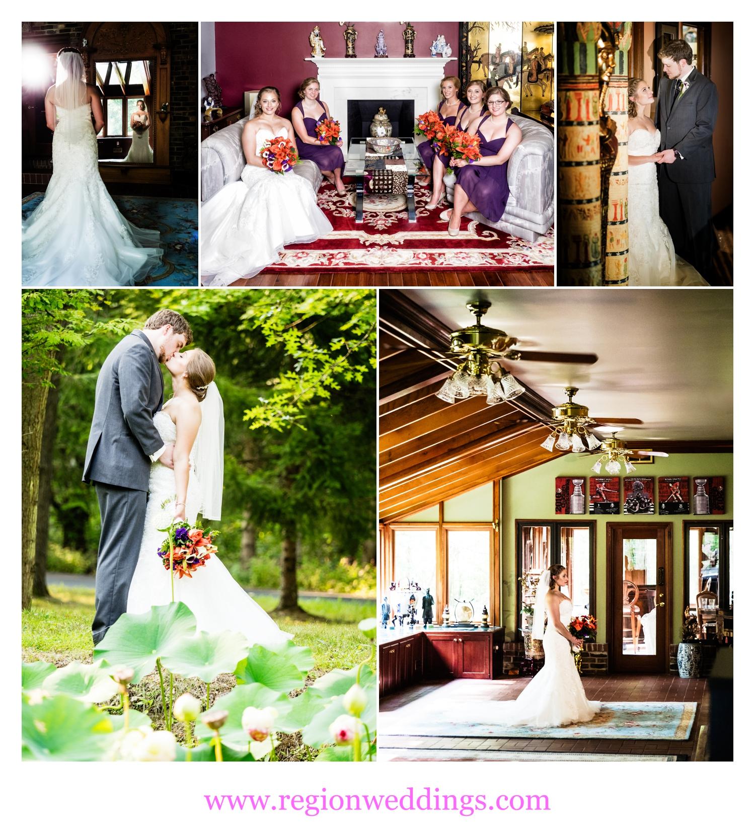 Wedding photos in Cedar Lake, Indiana.