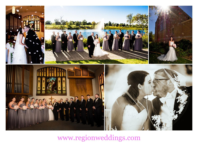Wedding photos in Chesterton, Indiana.