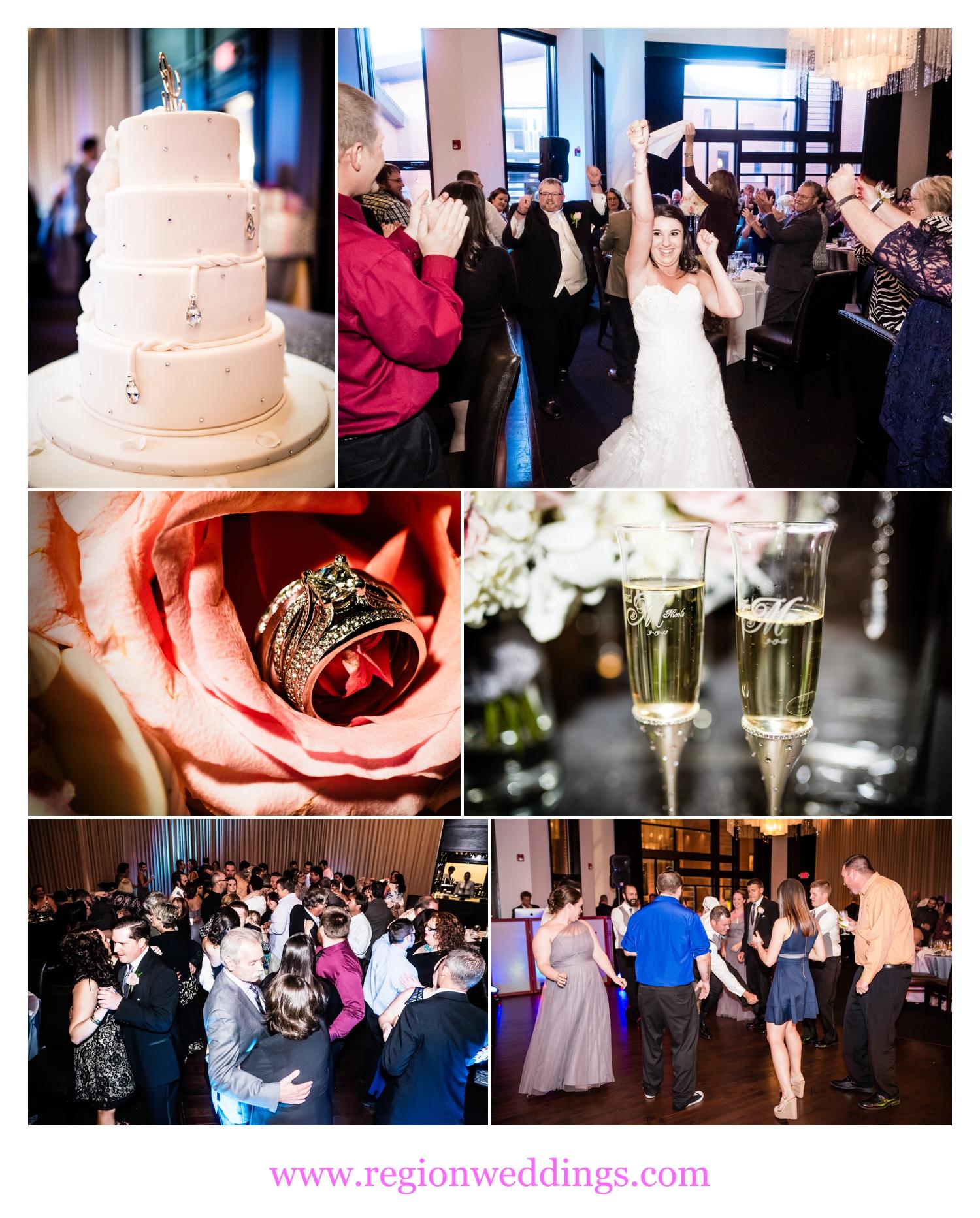 Wedding reception at Gamba's Ristorante in Merrillville, Indiana.