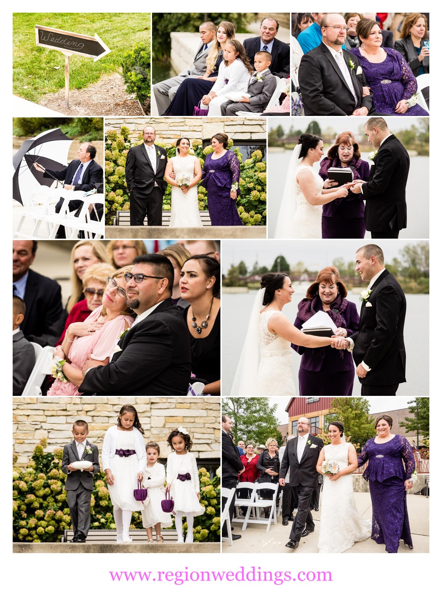 Fall wedding ceremony at Centennial Park.