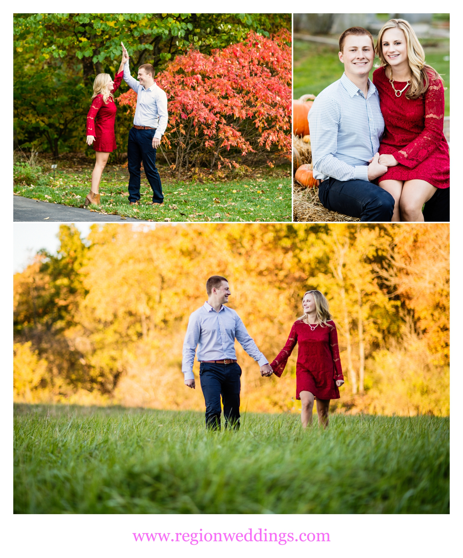 An Autumn engagement session at Taltree Aboretum.