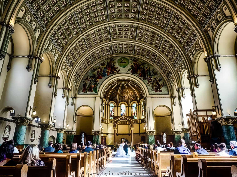 Wedding ceremony at St. Josaphat Roman Catholic Church