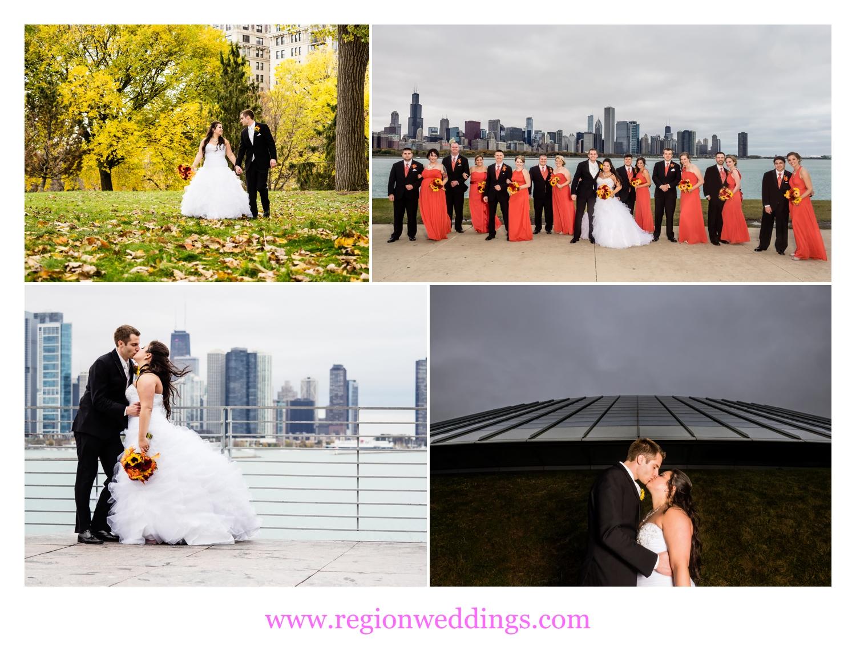 Wedding photos in Chicago, Illinois.