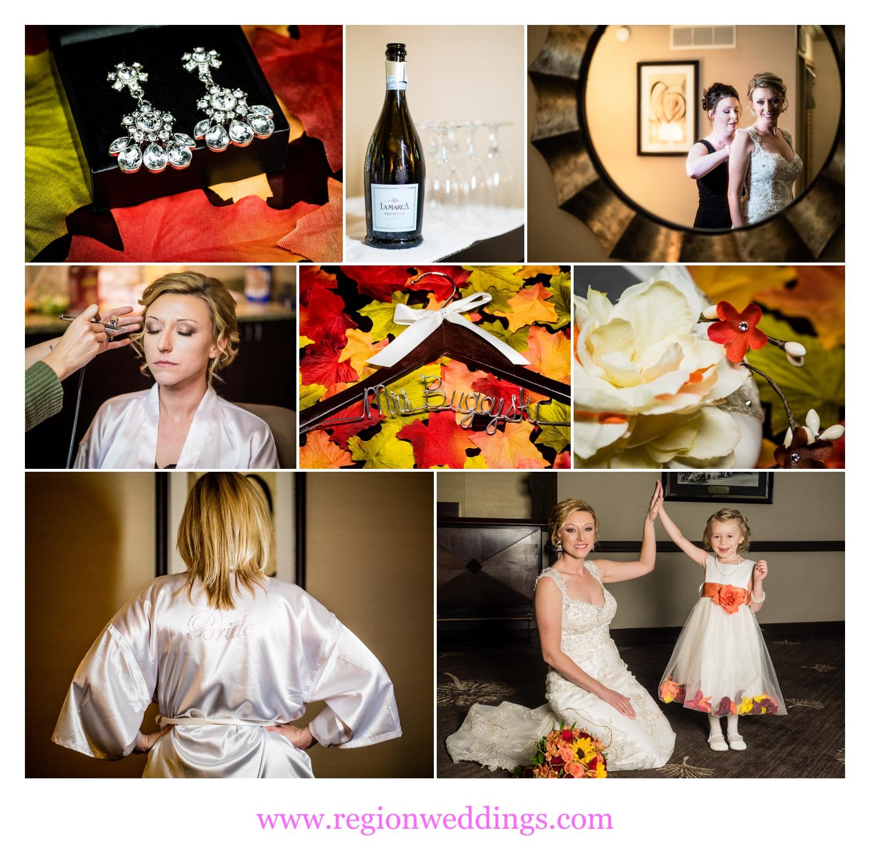Bridal suite at Radisson Hotel.