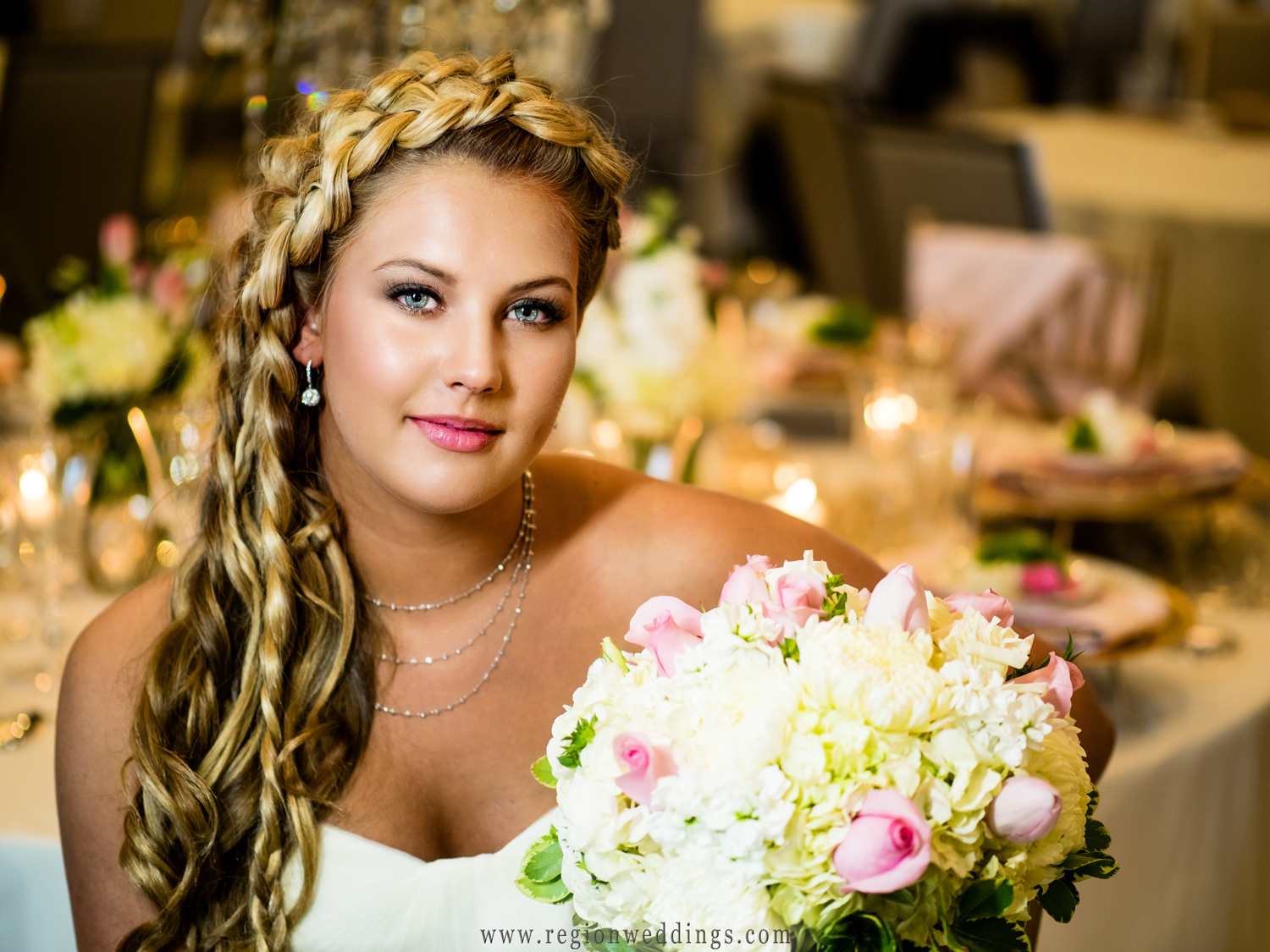 Bridal portrait at The Restaurant at Fair Oaks Farms