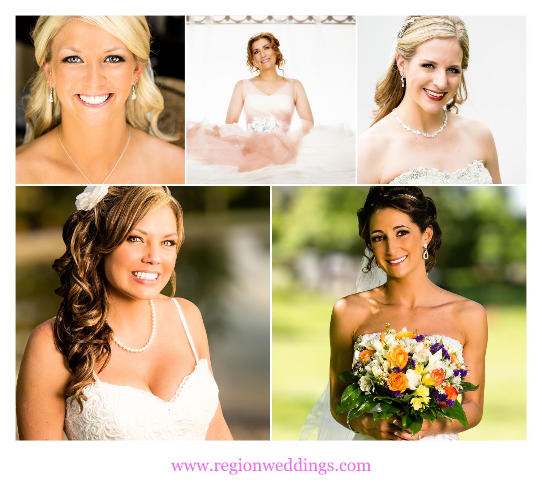 Collection of bridal clients of make up artist Krissy V.