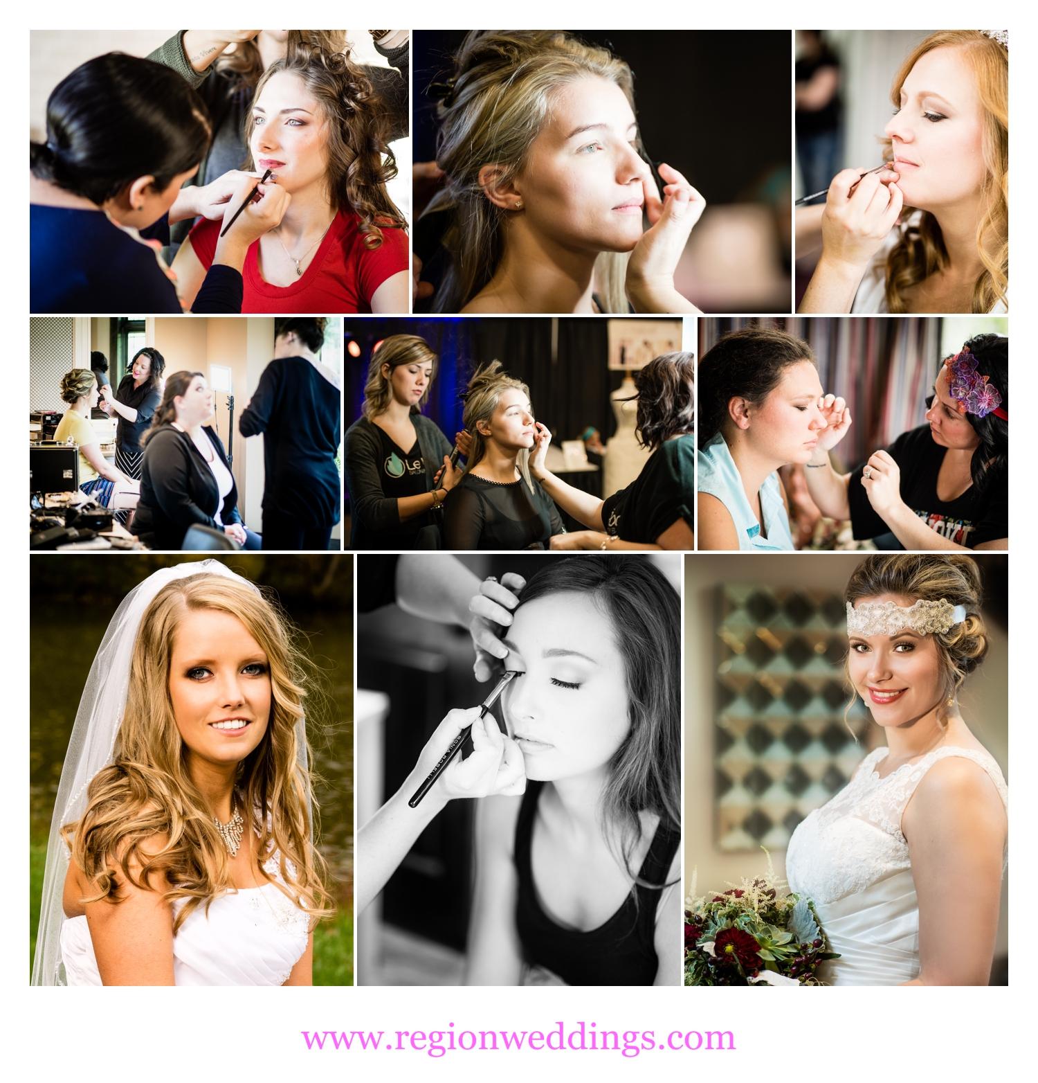 Bridal prep with MUA Melissa Marshall.