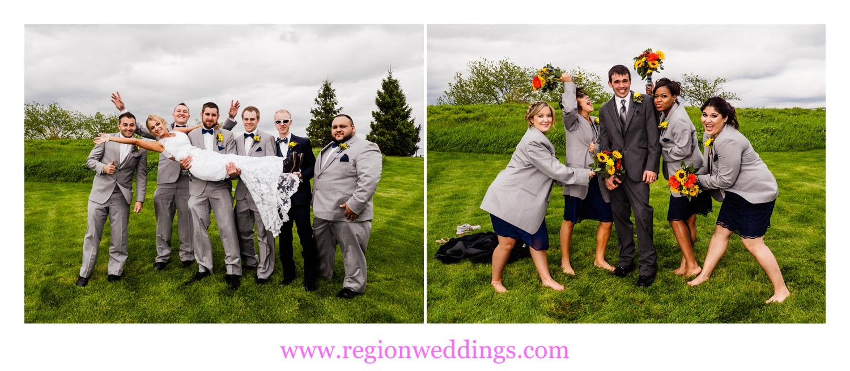 Fun wedding photos at Centennial Park.