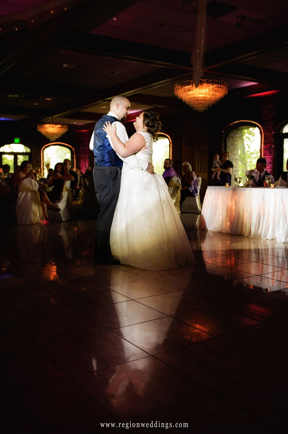 First dance for the bride and groom at their reception at Wicker Park.
