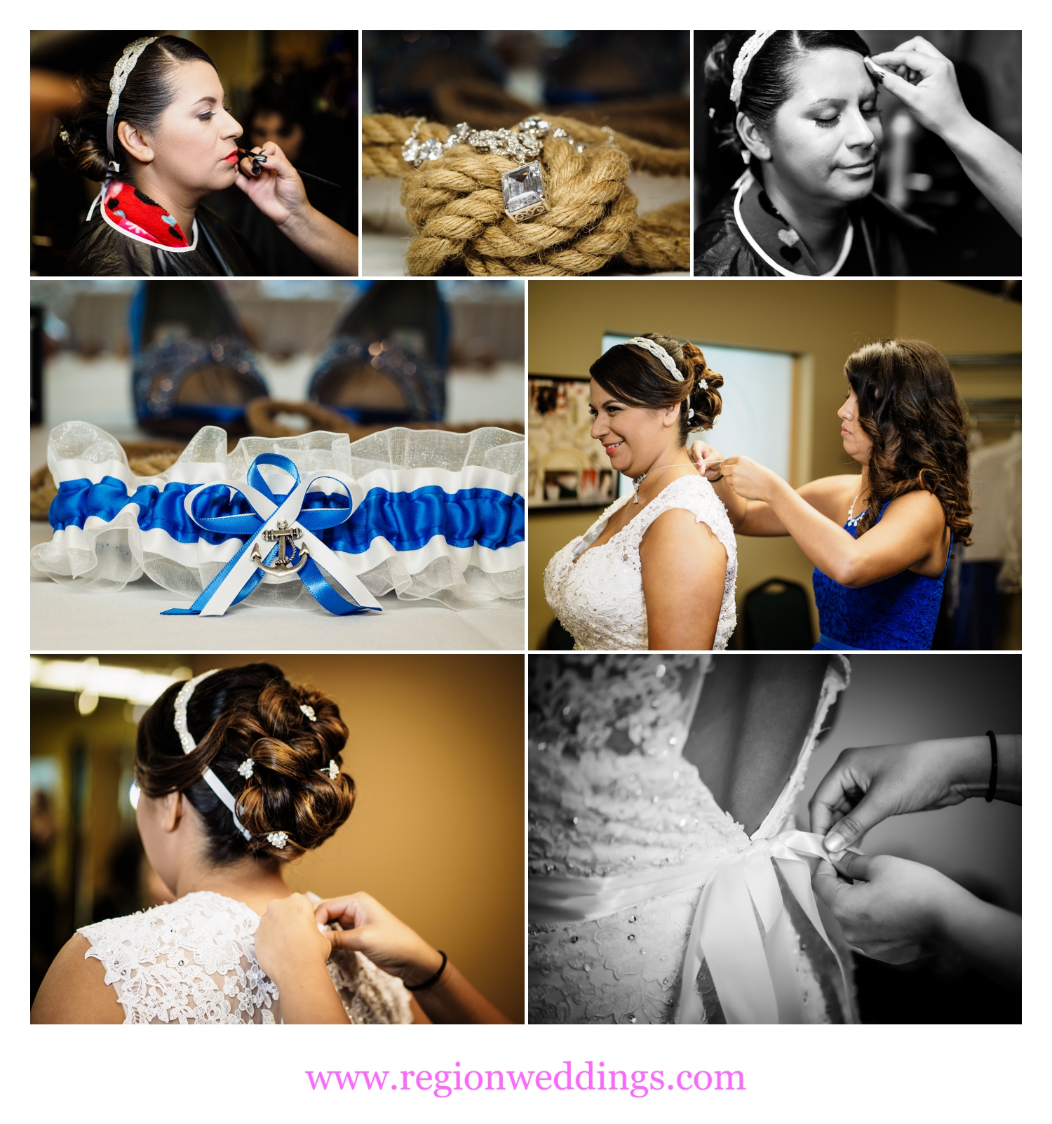 Images from the bridal suite at The Patrician Banquet Center.