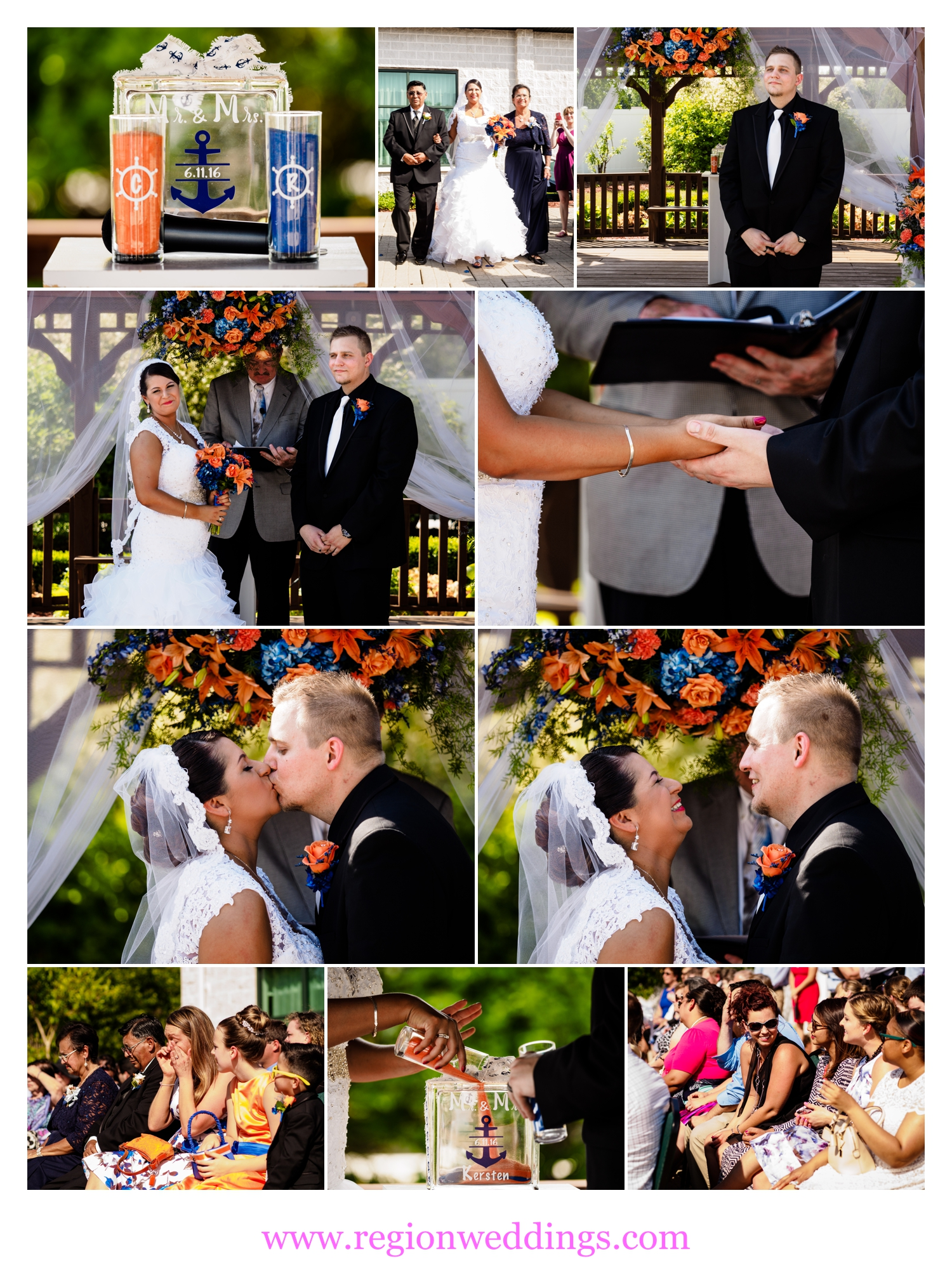 Outdoor, June wedding ceremony at The Patrician Banquet Center.