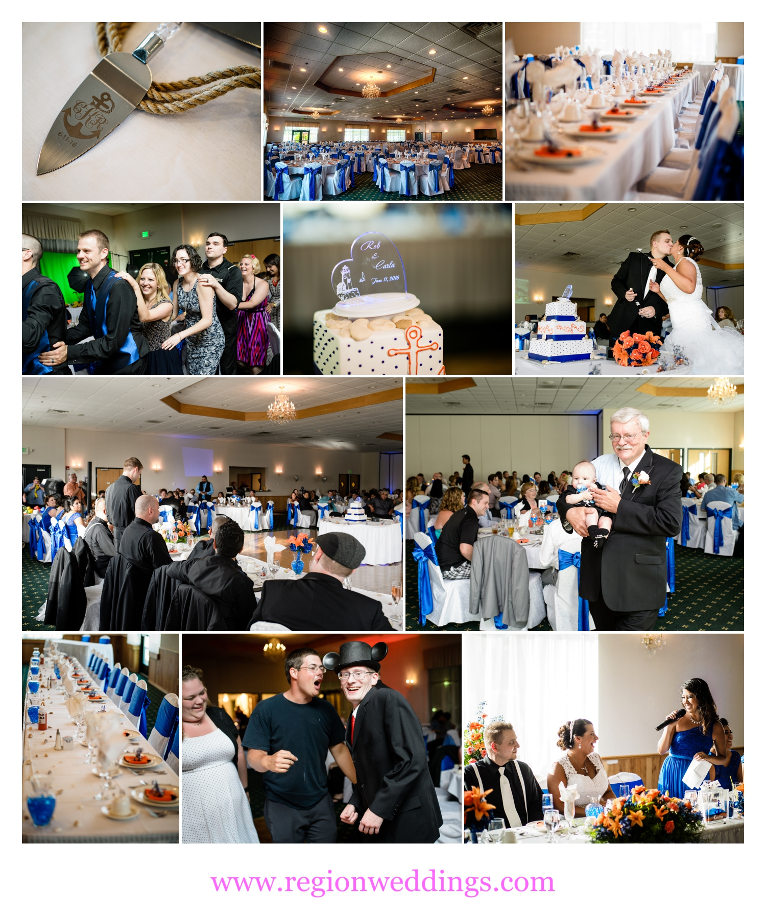 Summer wedding reception at The Patrician Banquet Hall.