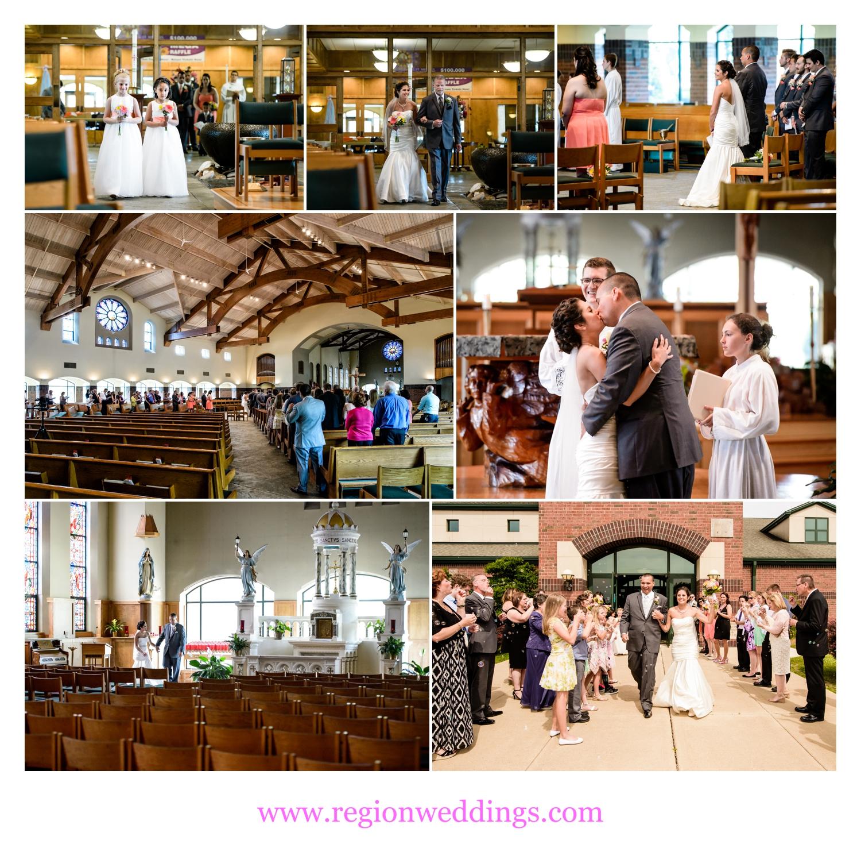 Wedding ceremony at St. Michael's Parish in Schererville, Indiana.