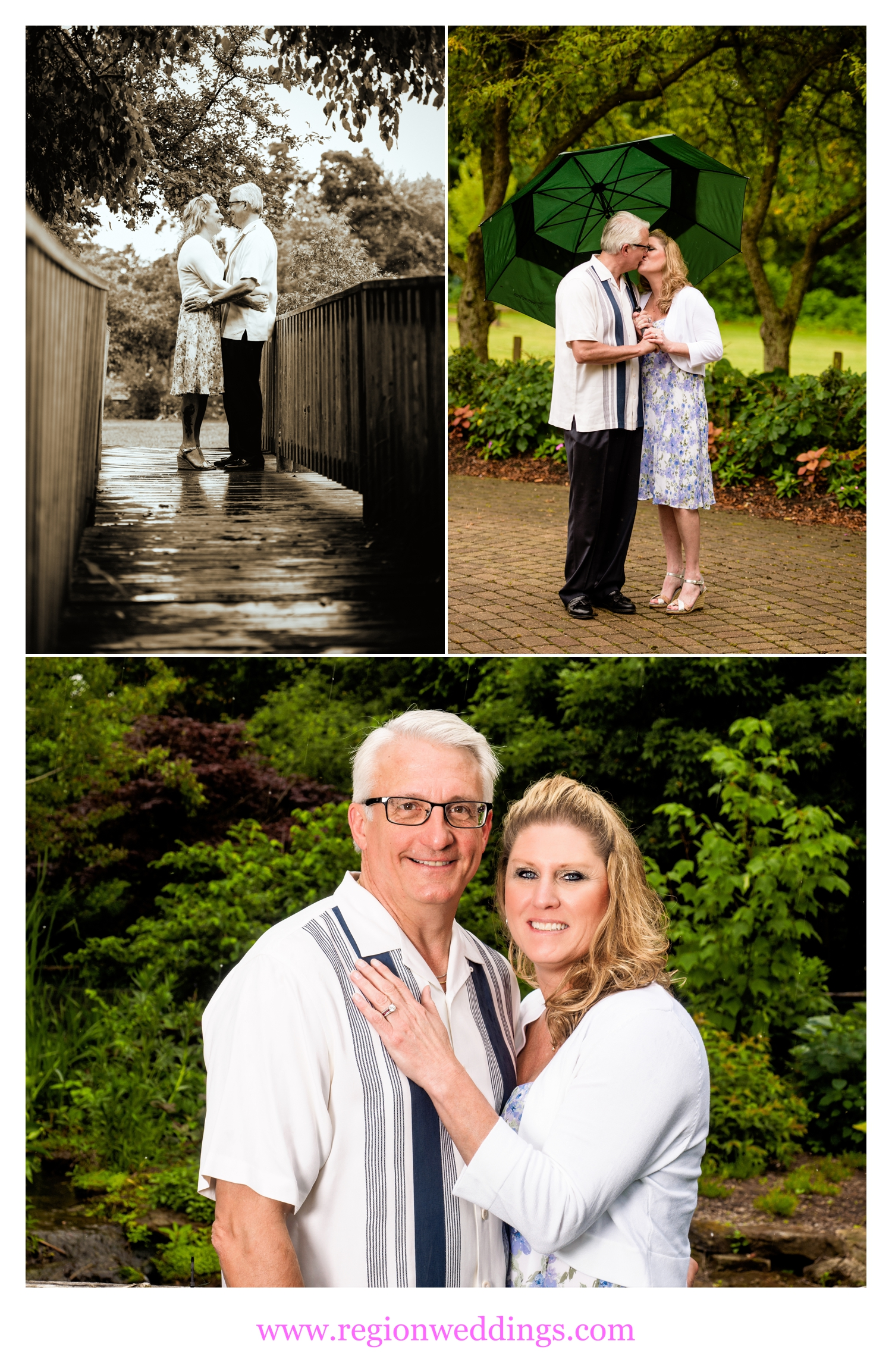 Romantic engagement photos at Ogden Gardens in Valparaiso, Indiana.
