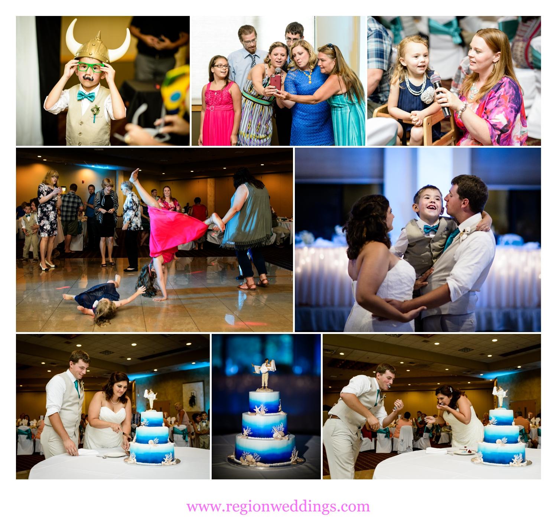Beach themed wedding reception at Villa Cesare in Schererville, Indiana.