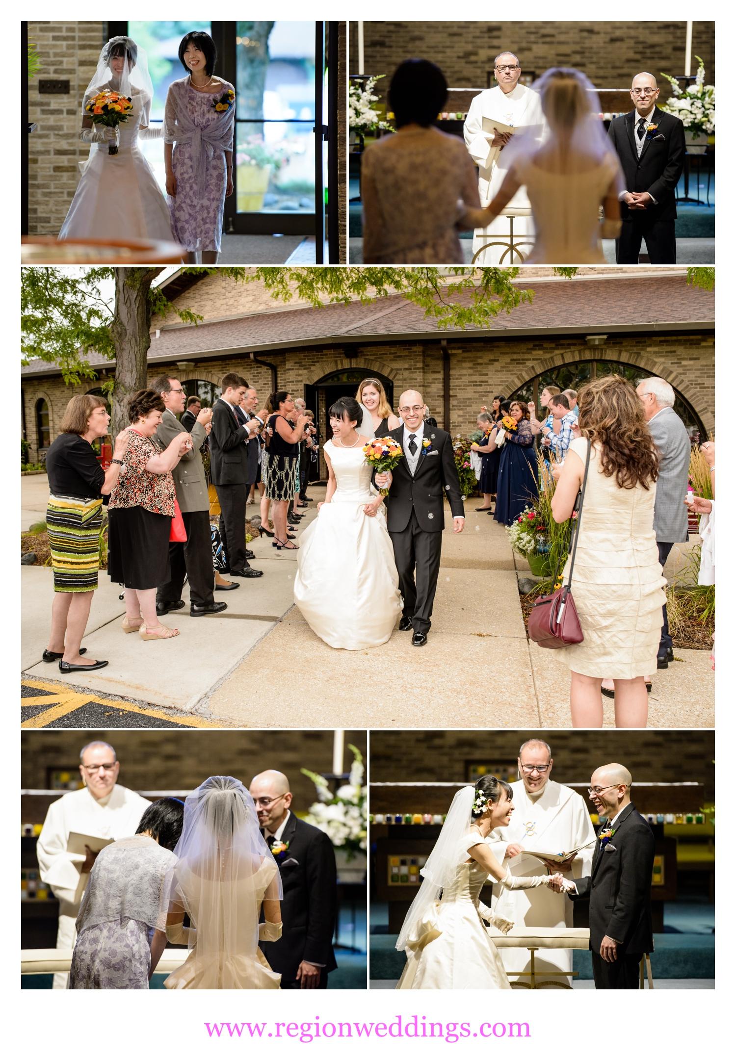Wedding ceremony at St. Maria Goretti Church.