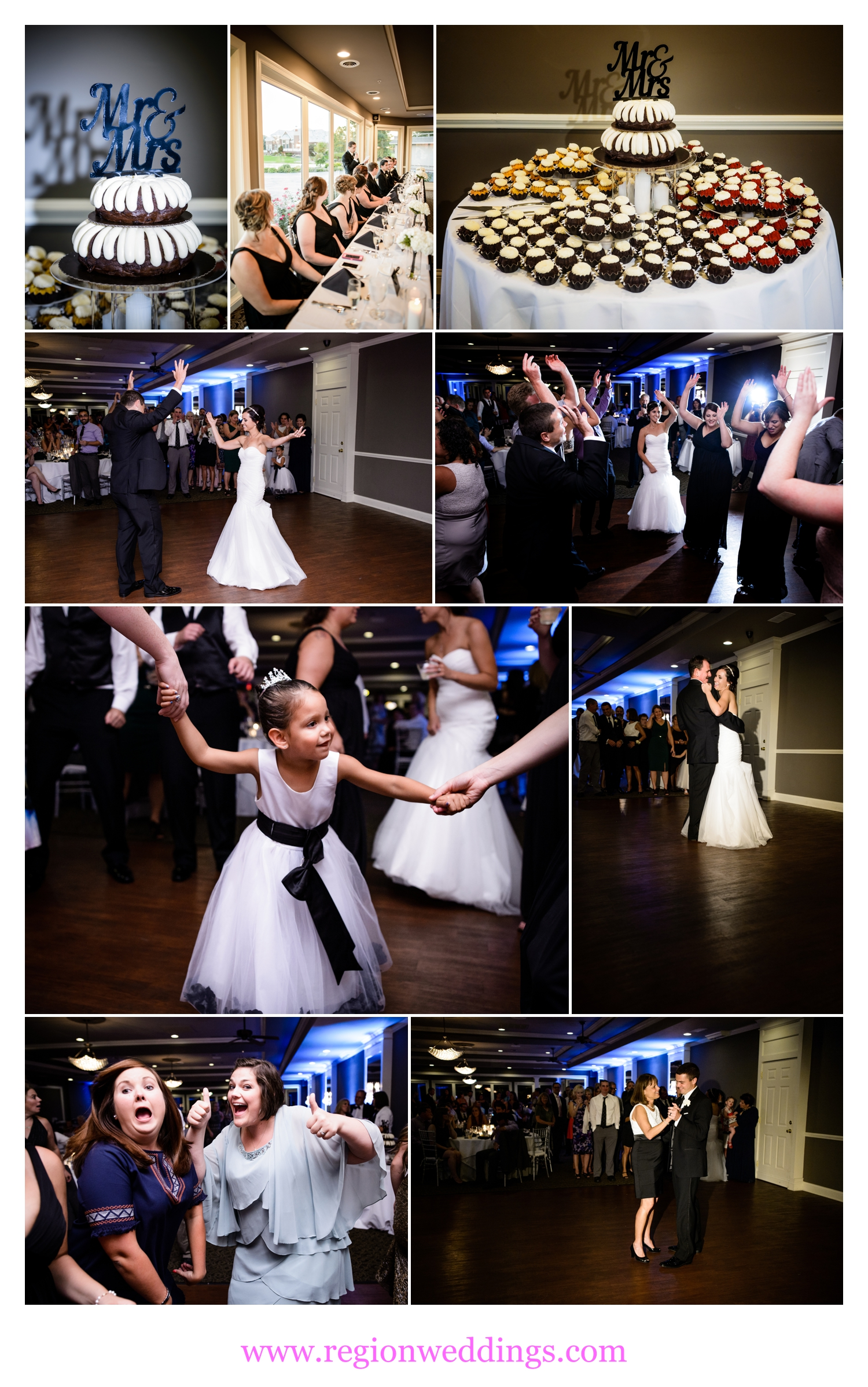 Wedding reception at White Hawk Country Club.