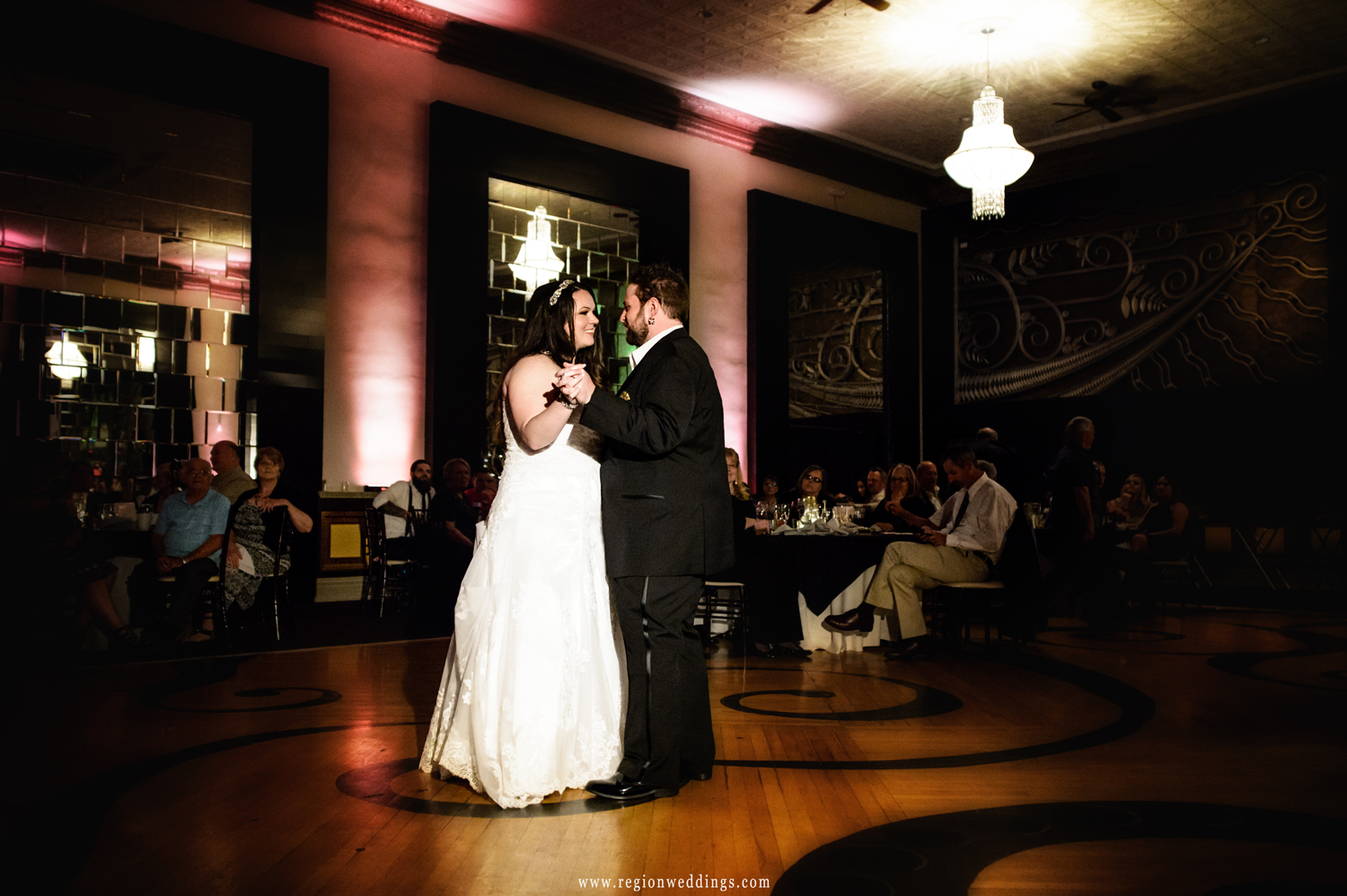 First dance for the bride and groom at The Allure ballroom.