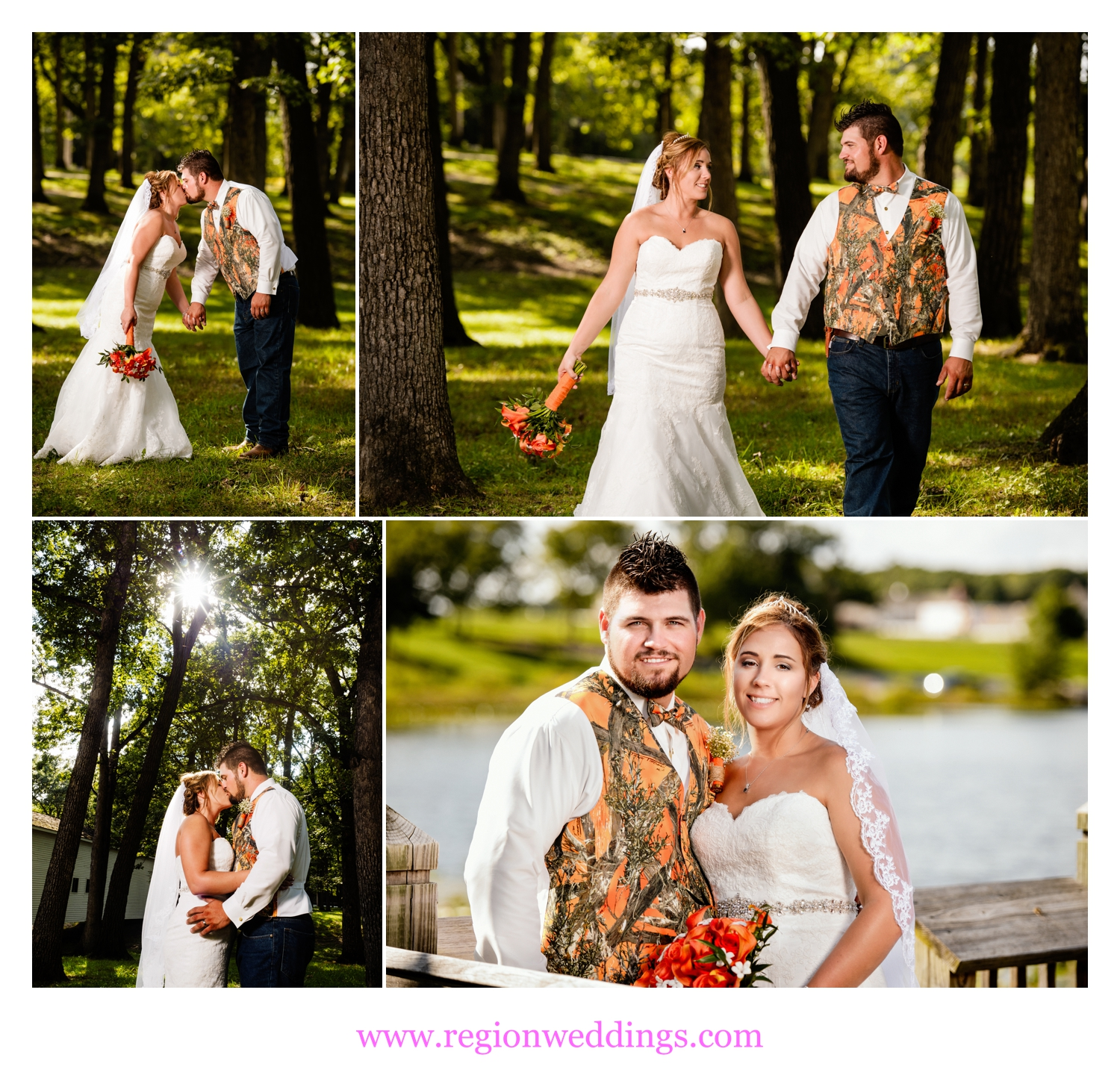 Bride and groom photos at The Lake County Fairgrounds in Crown Point, Indiana.