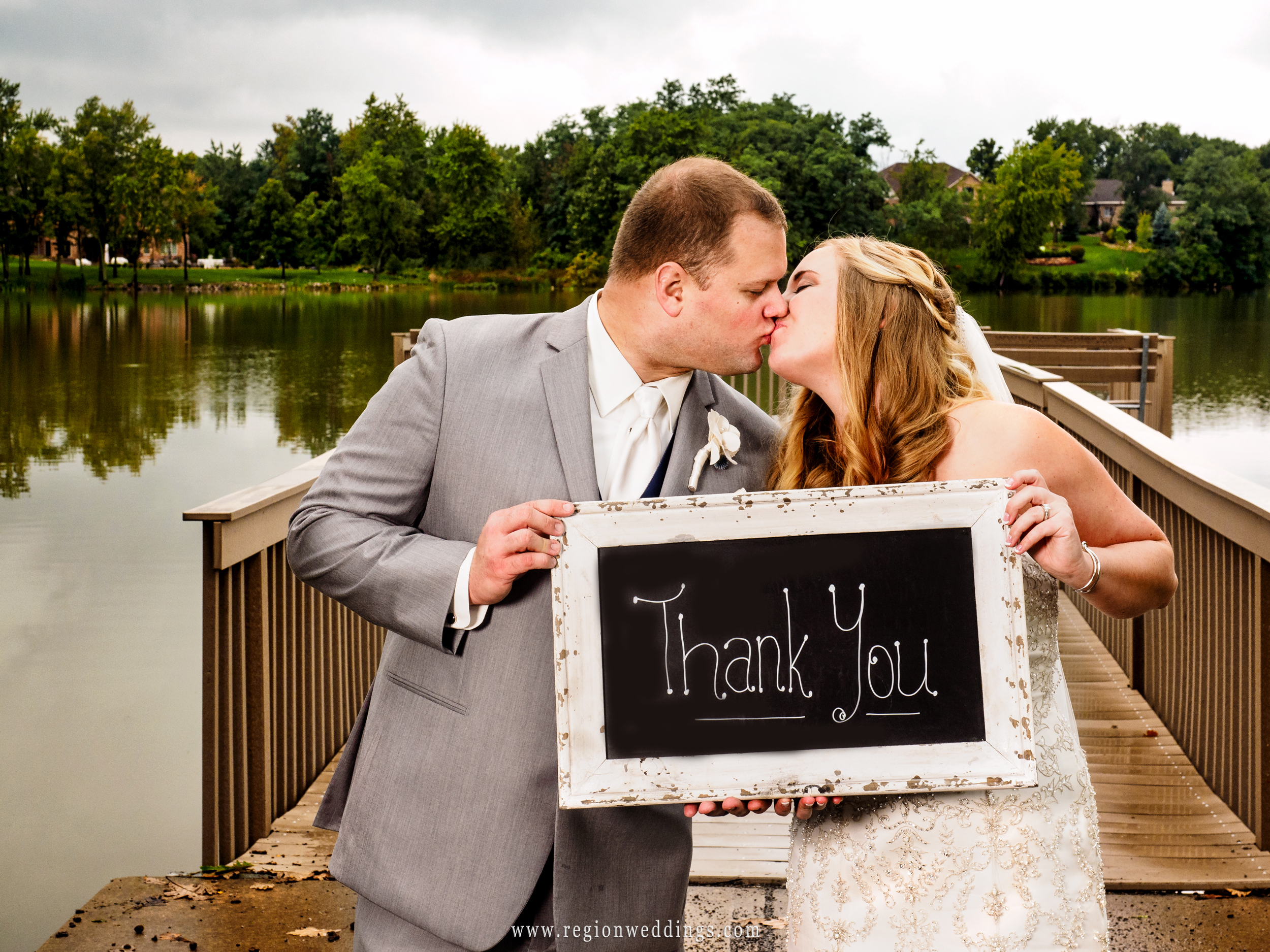 Wedding day Thank You sign.