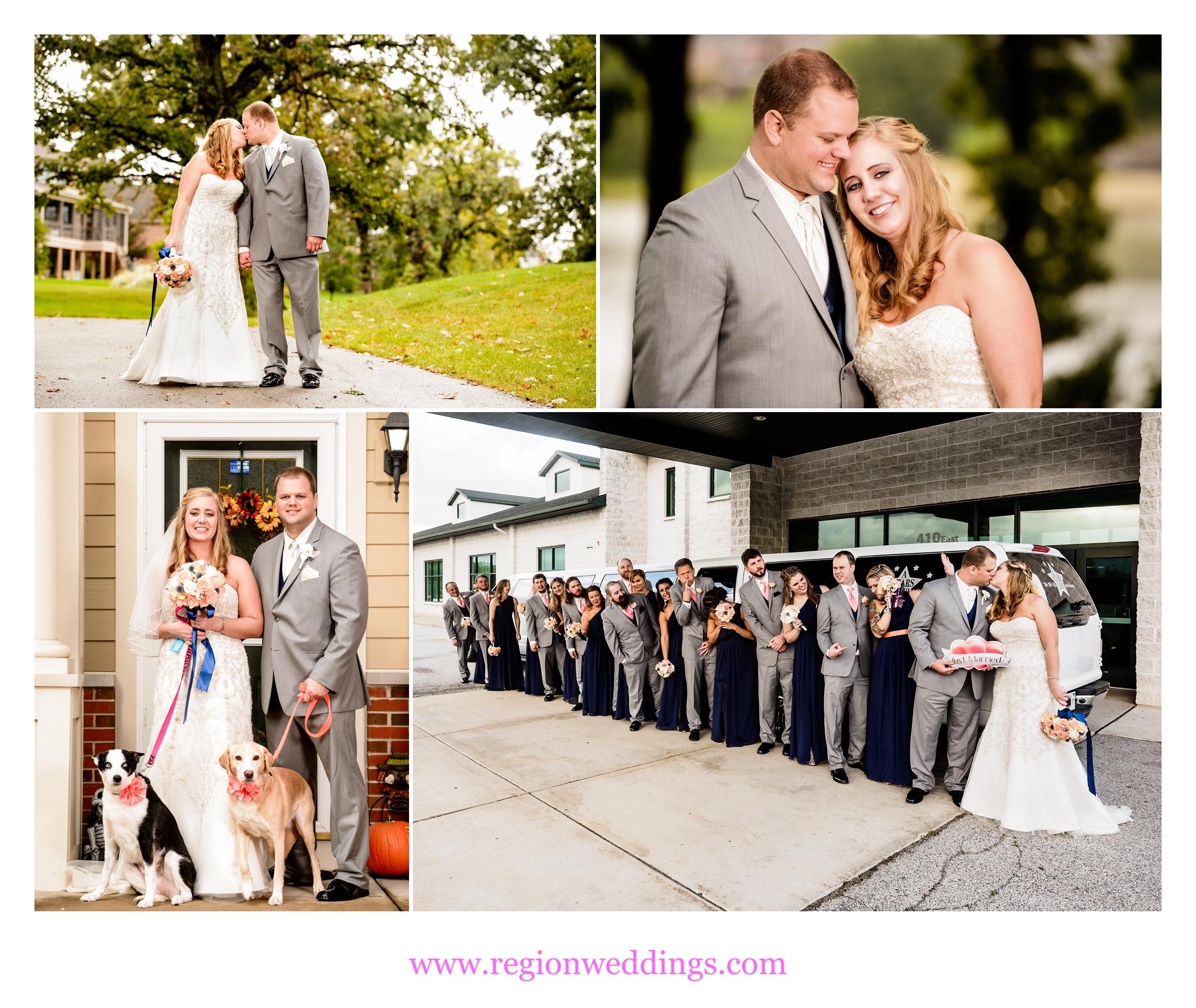 Outdoor, Fall wedding photos.