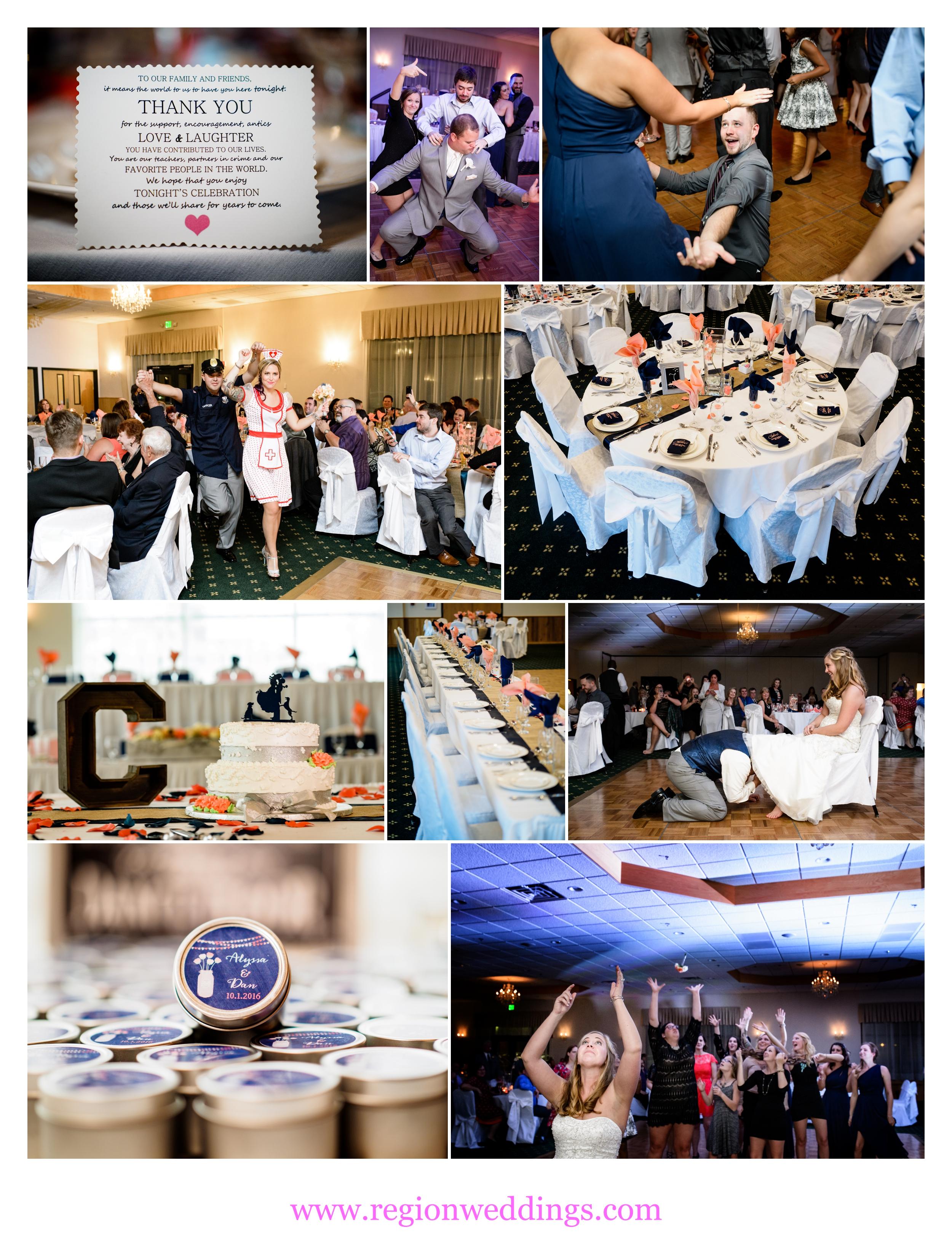 An October wedding reception at The Patrician Banquet Center.