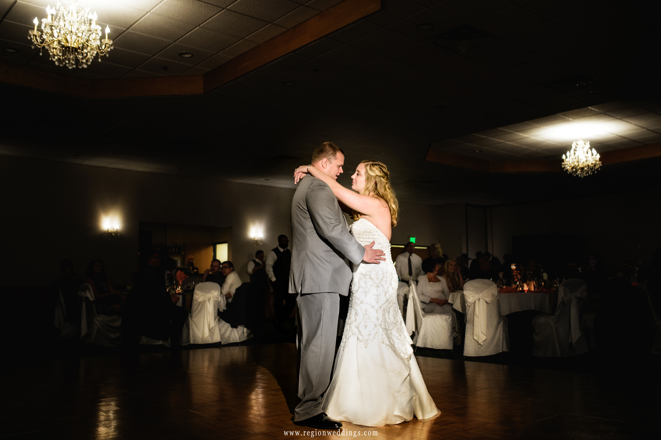 First dance for an October wedding reception at The Patrician.