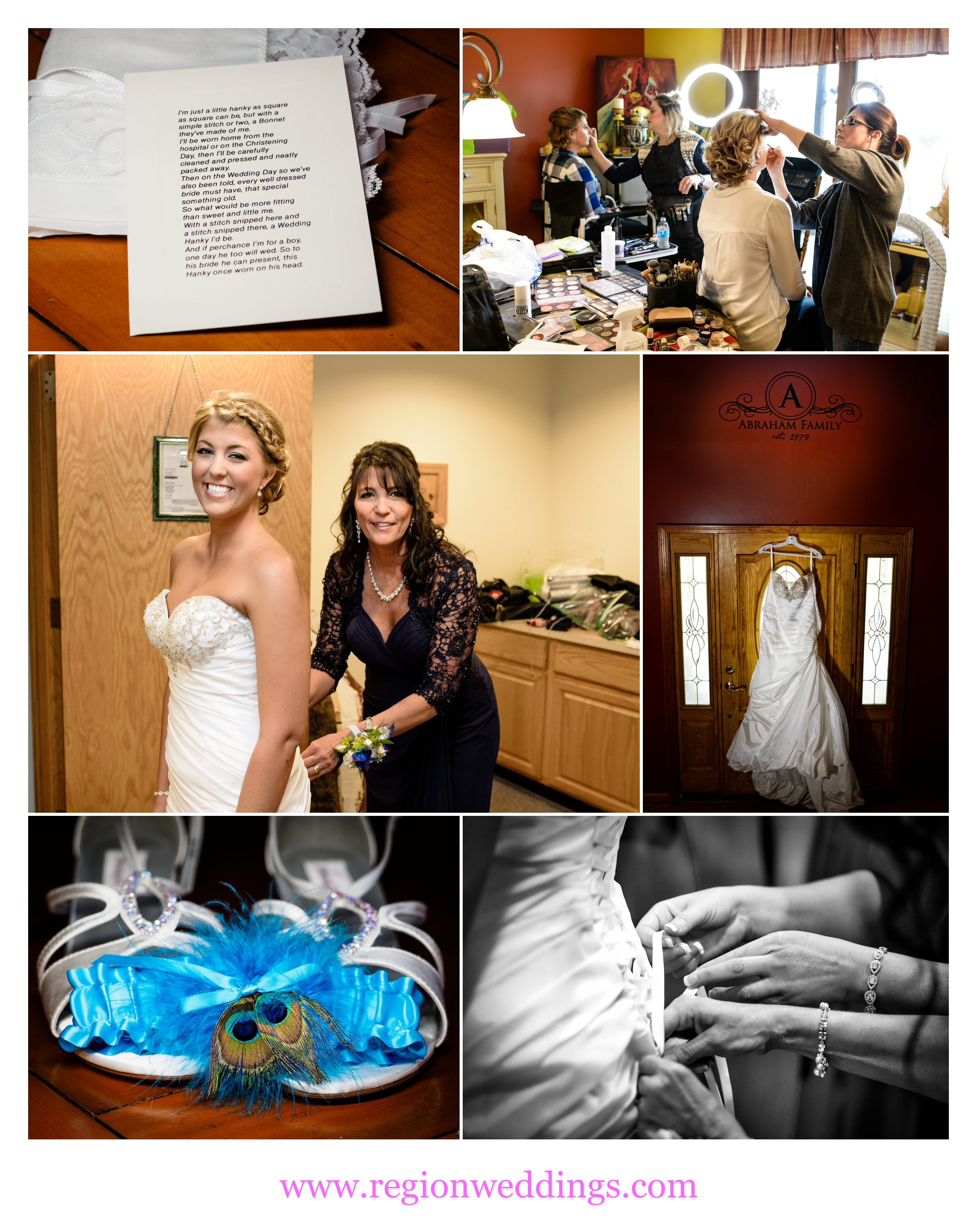 Bridal prep for a Fall wedding in Chesterton, Indiana.