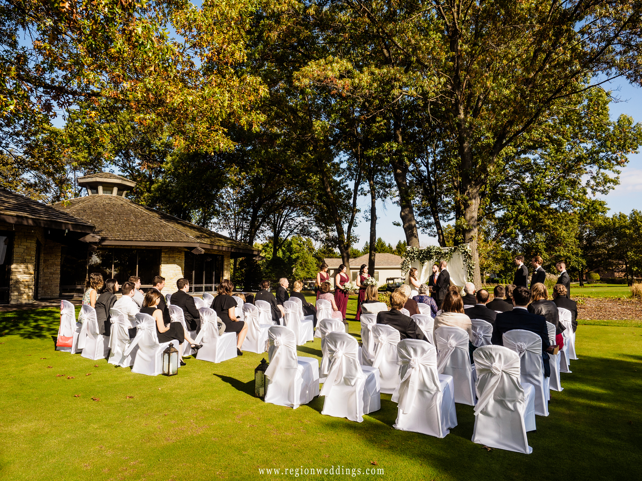 Outdoor wedding at Briar Ridge Country Club.