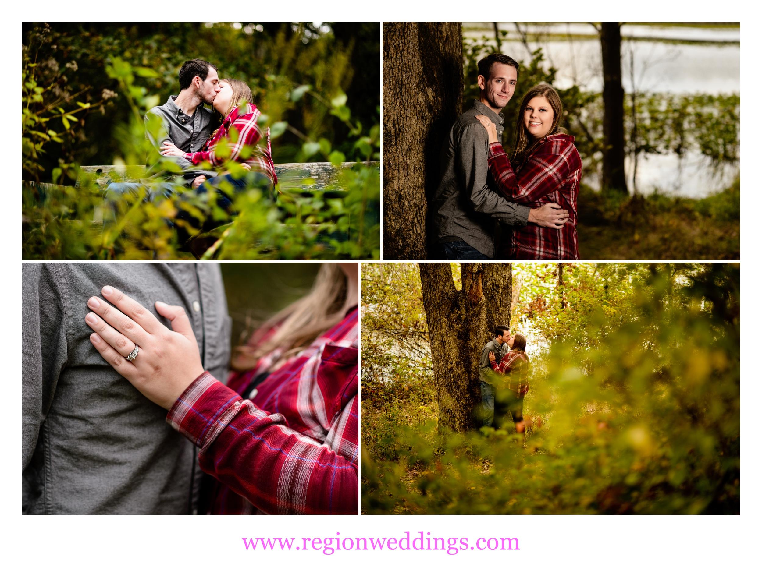 A couple in love explores Lemon Lake Park.