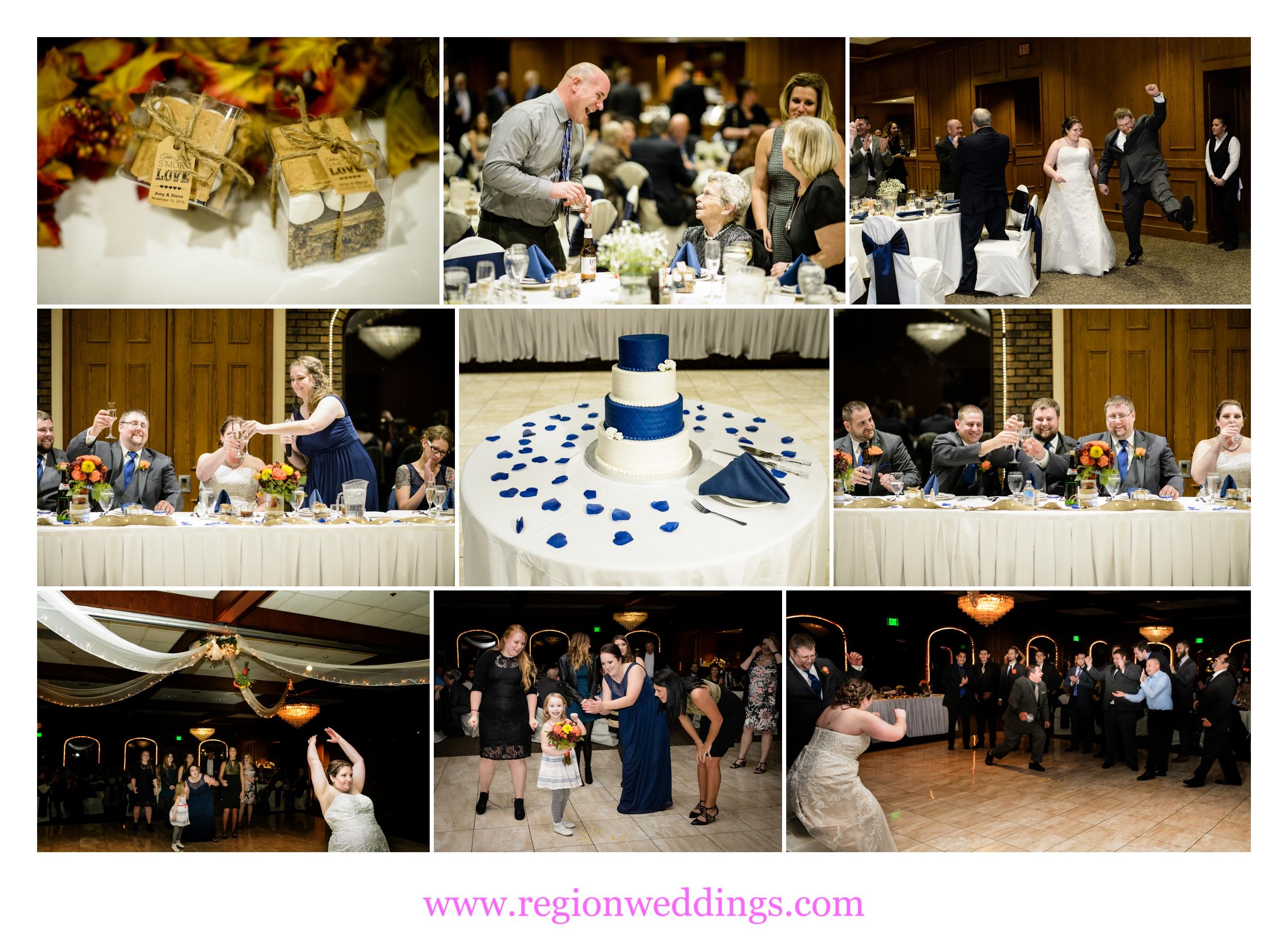Fall wedding reception at Wicker Park Social Center.