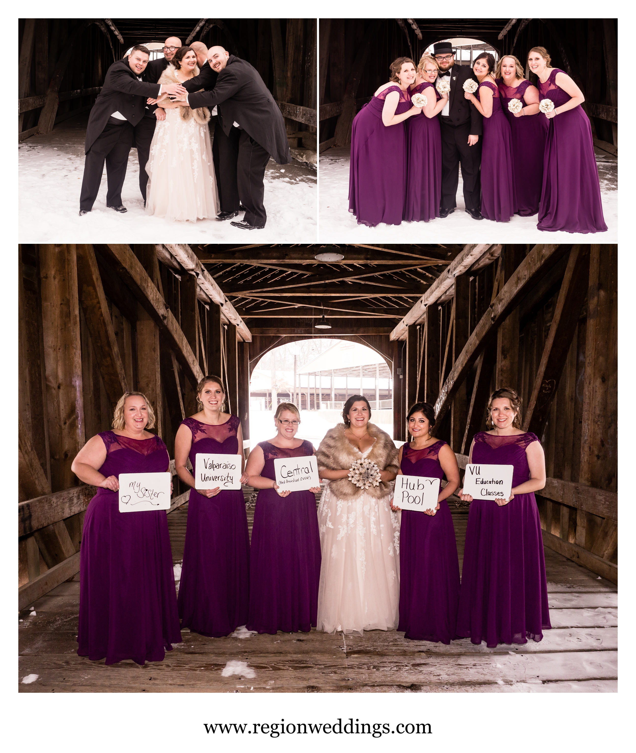 Wedding party fun at the Lake County Fairgrounds.