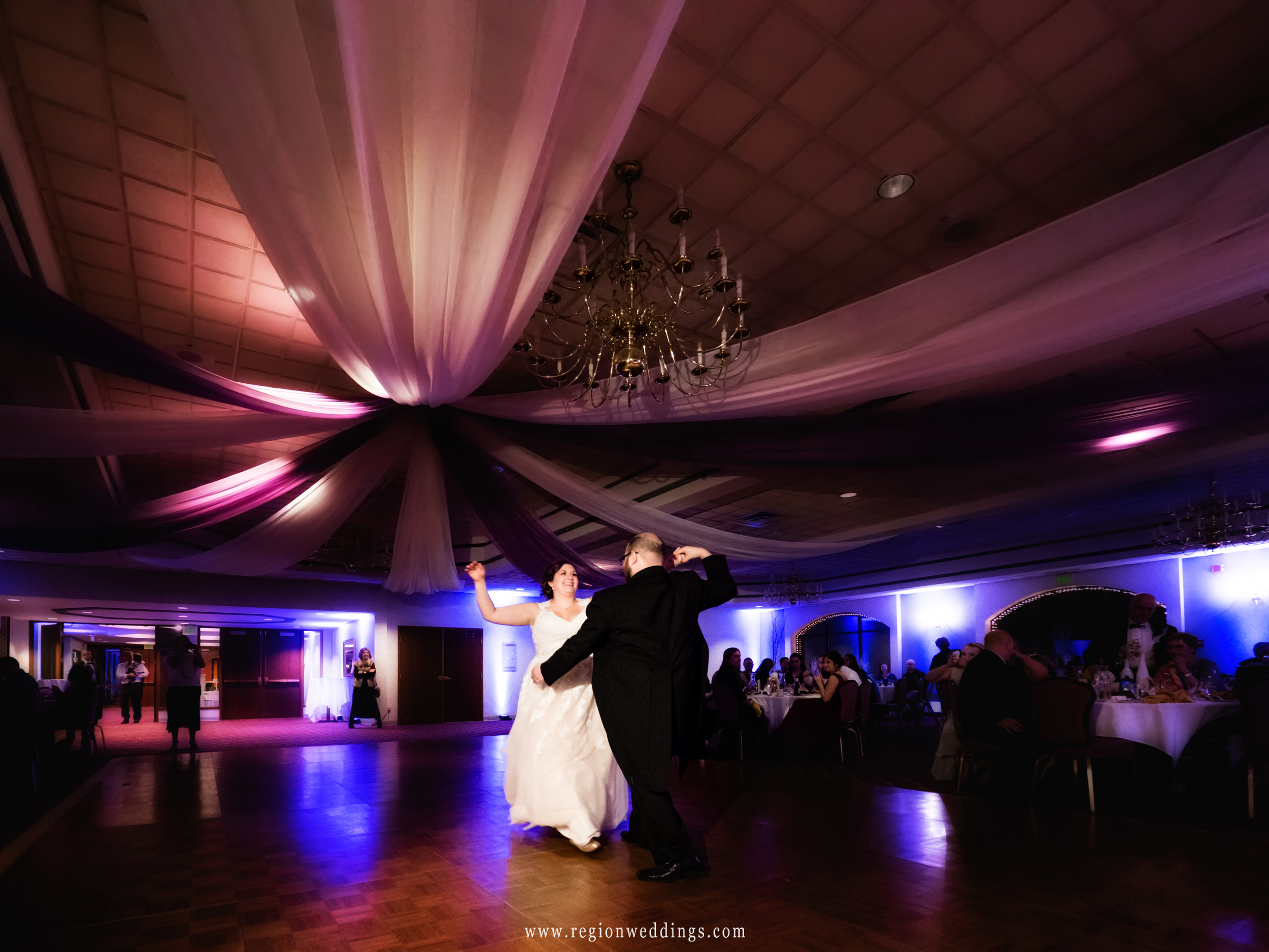 First dance at Cloister In The Woods in Munster, Indiana.