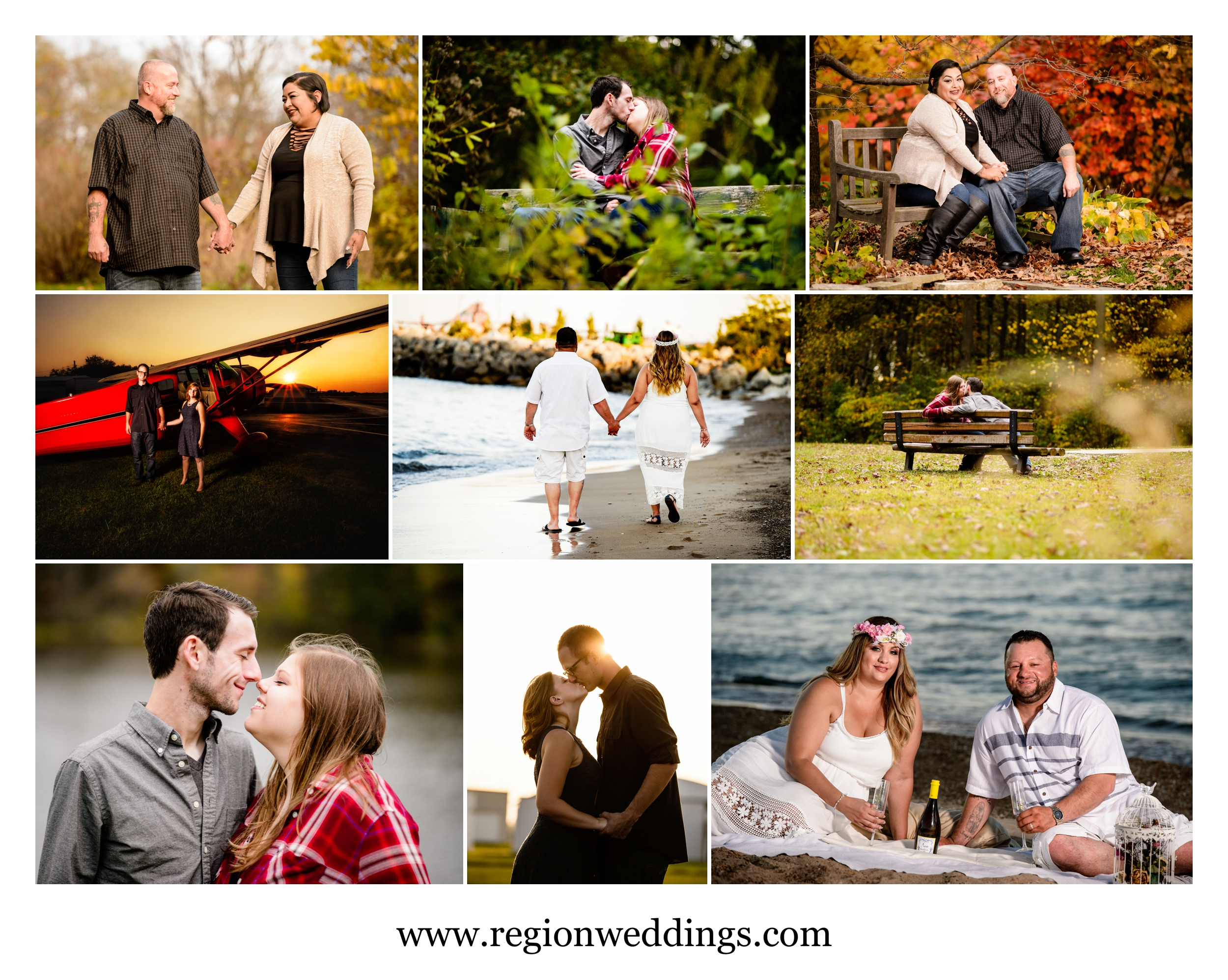 Engagement photos in Northwest Indiana in 2016.