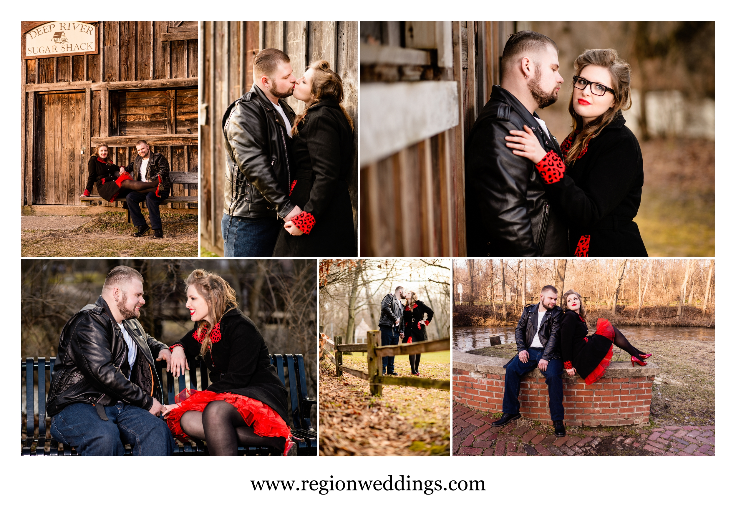 Engagement photos at Deep River County Park.
