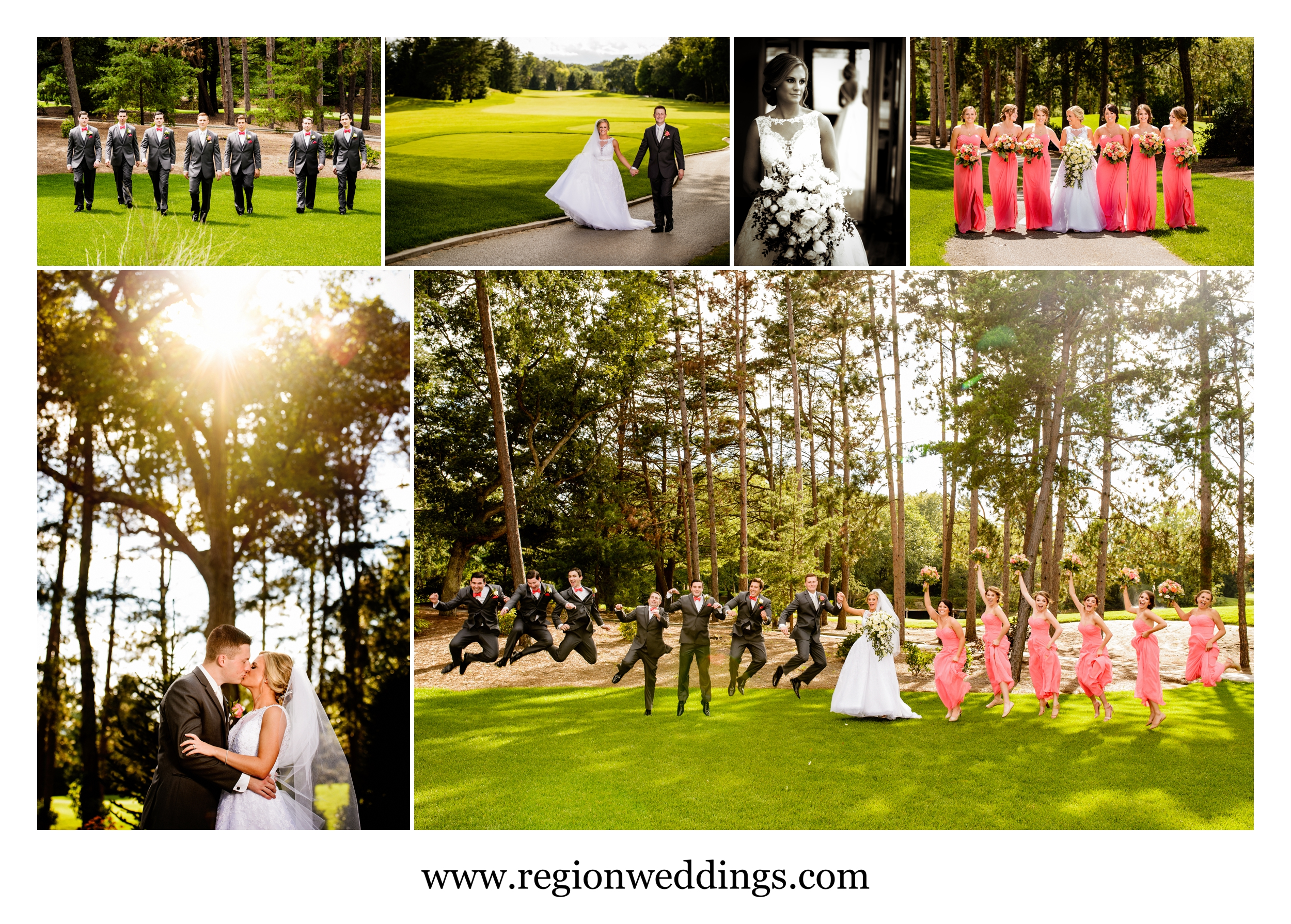 Wedding photos at The Pavilion At Sandy Pines in Demotte, Indiana.