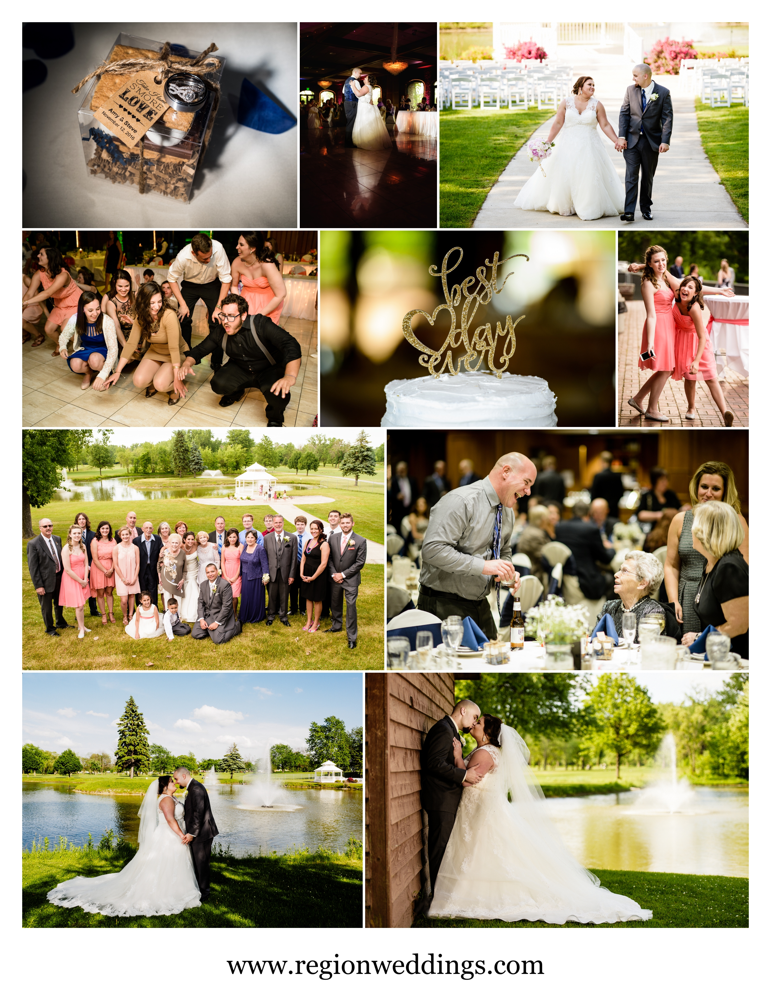 Wedding photos from Wicker Park Social Center in Munster, Indiana.