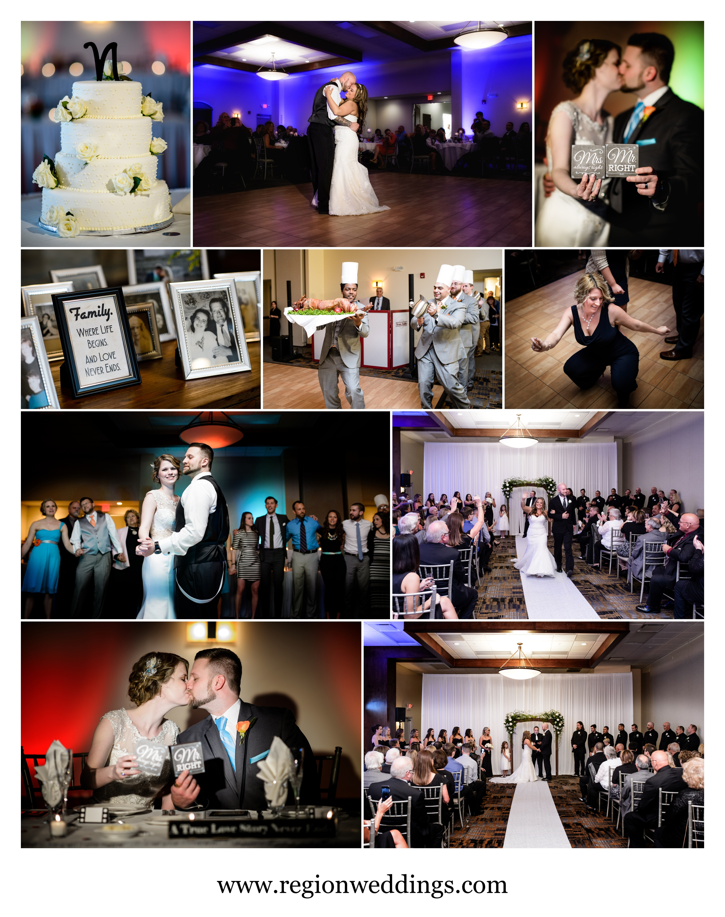 Wedding photos from Signature Banquets in Lowell, Indiana.