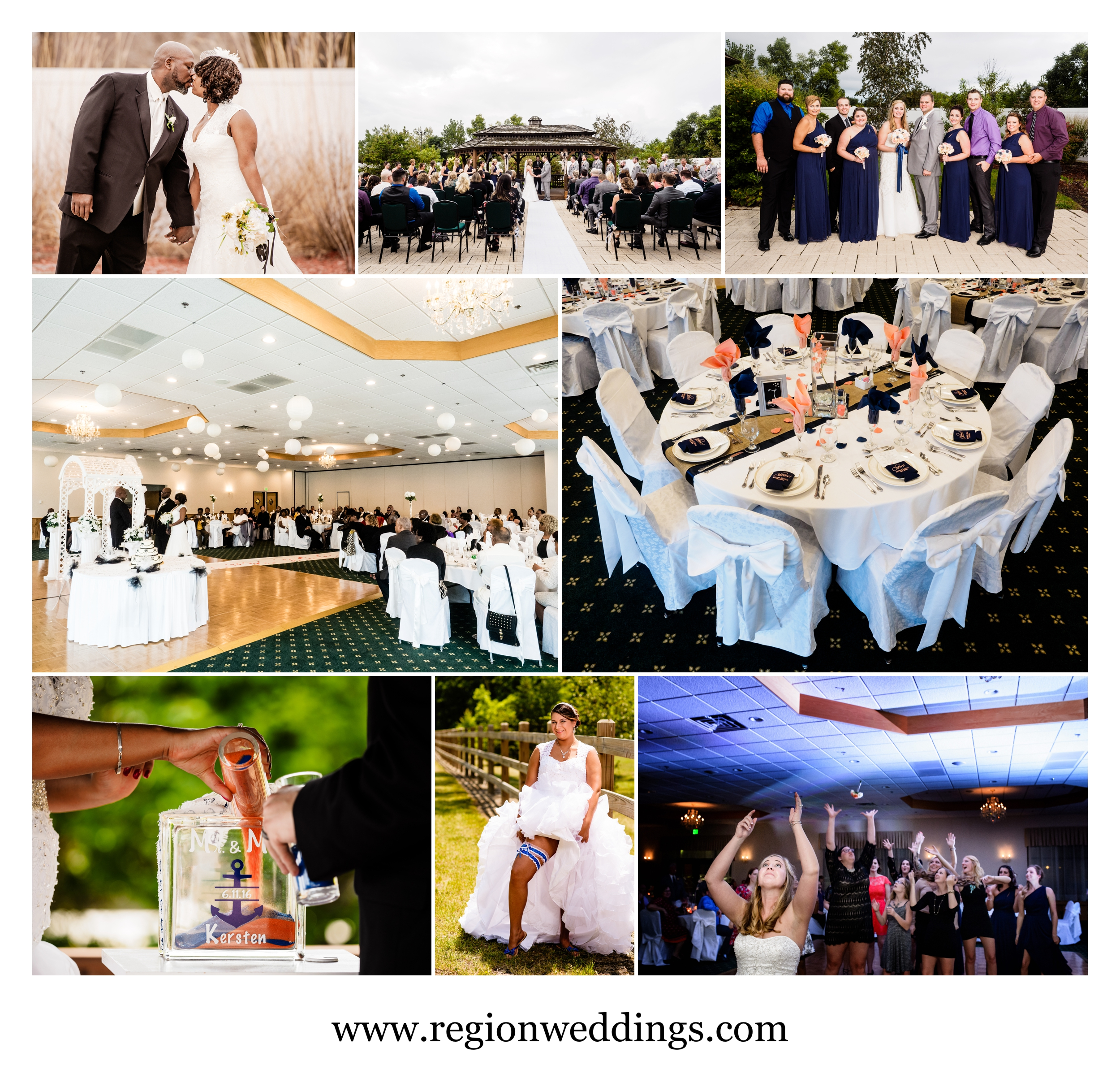Wedding photos at The Patrician in Schererville, Indiana.