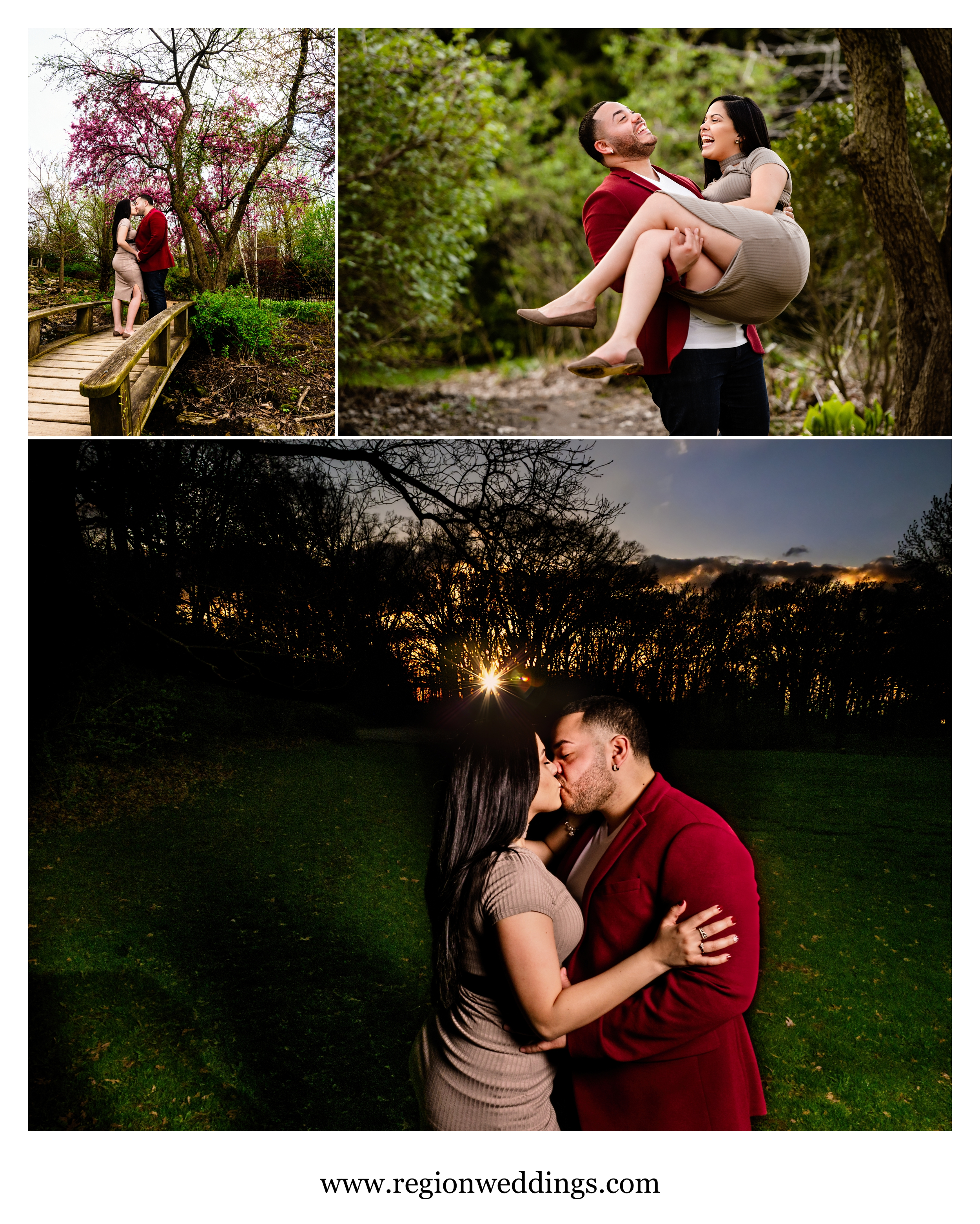 Some fun and romantic engagement photos at Ogden Park.