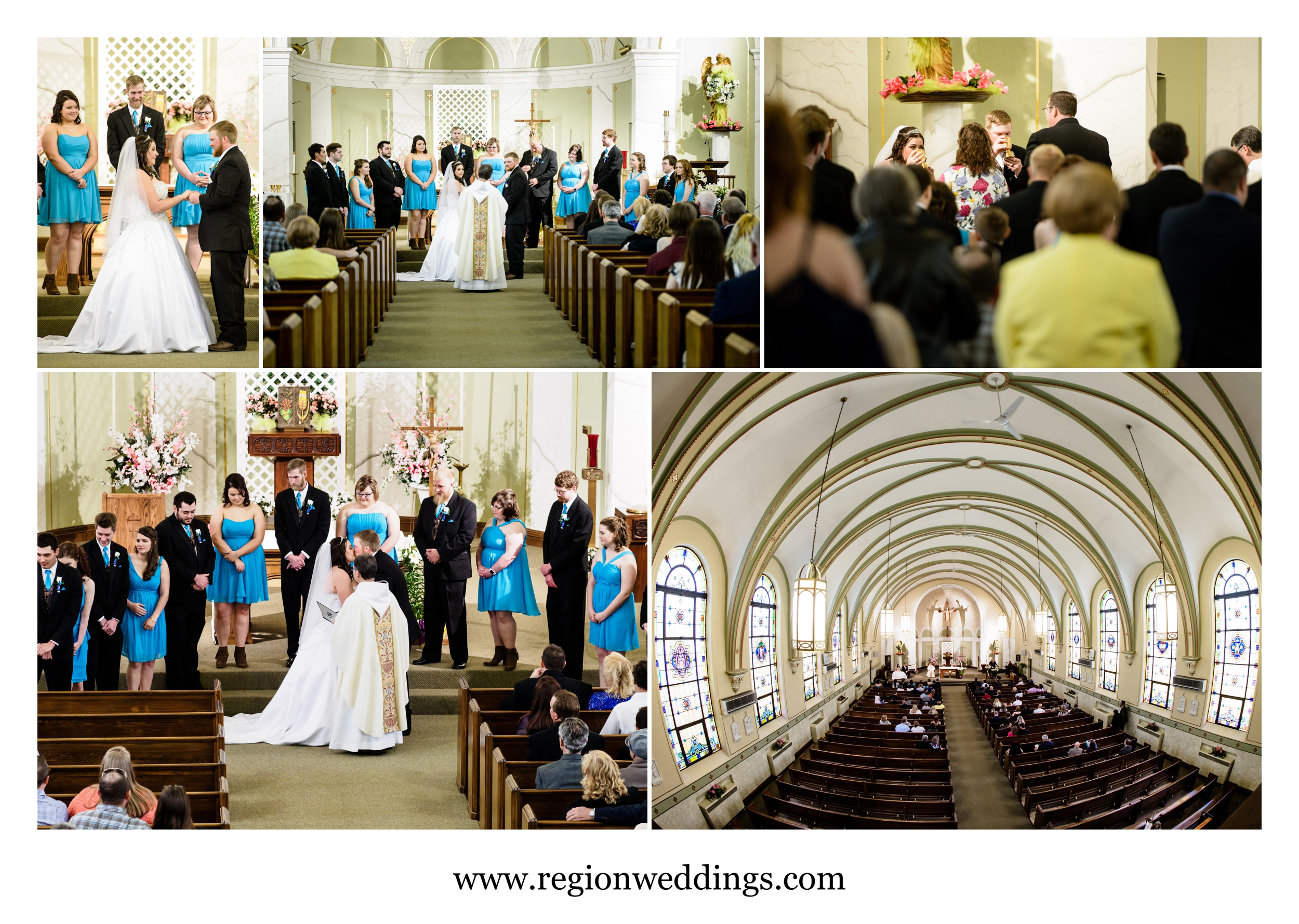 Holy Name Catholic Church wedding ceremony.