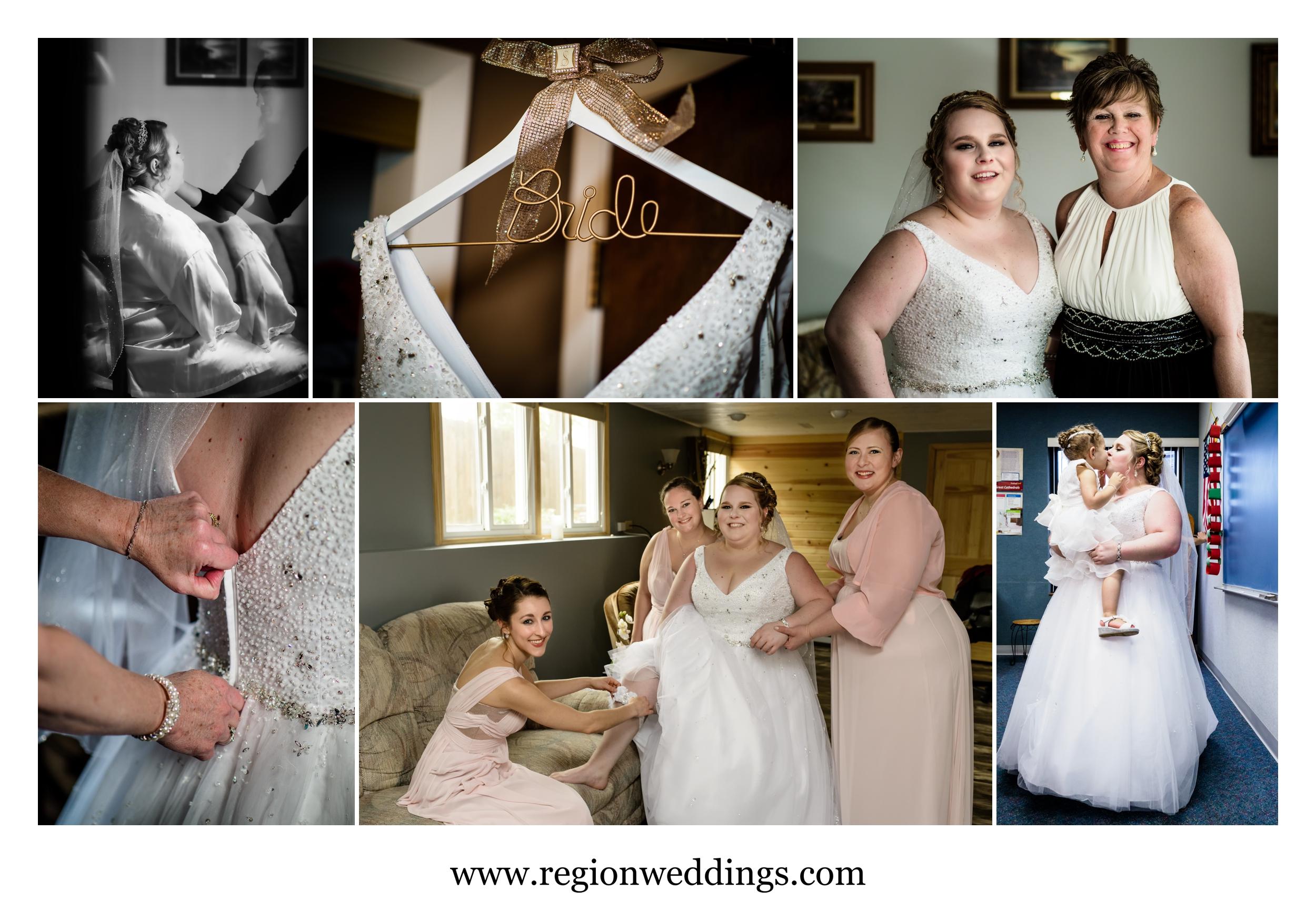 Wedding day getting ready.